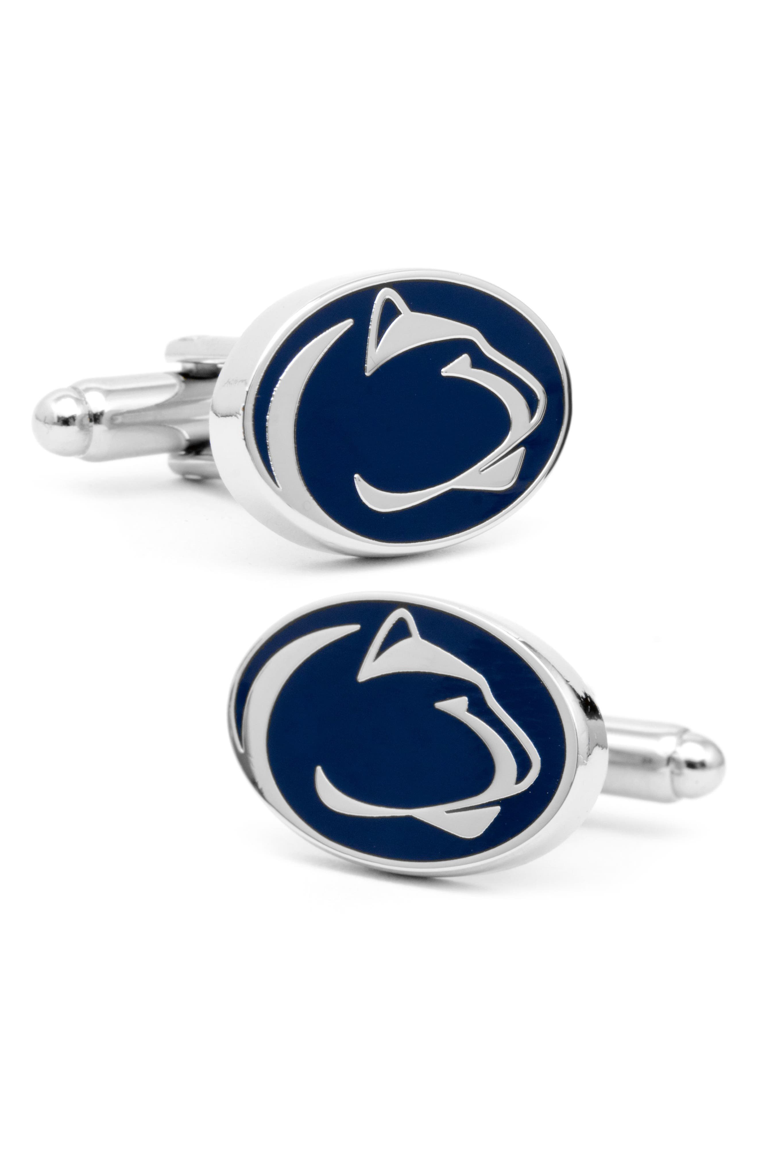 Penn State University Cuff Links,                             Main thumbnail 1, color,                             BLUE