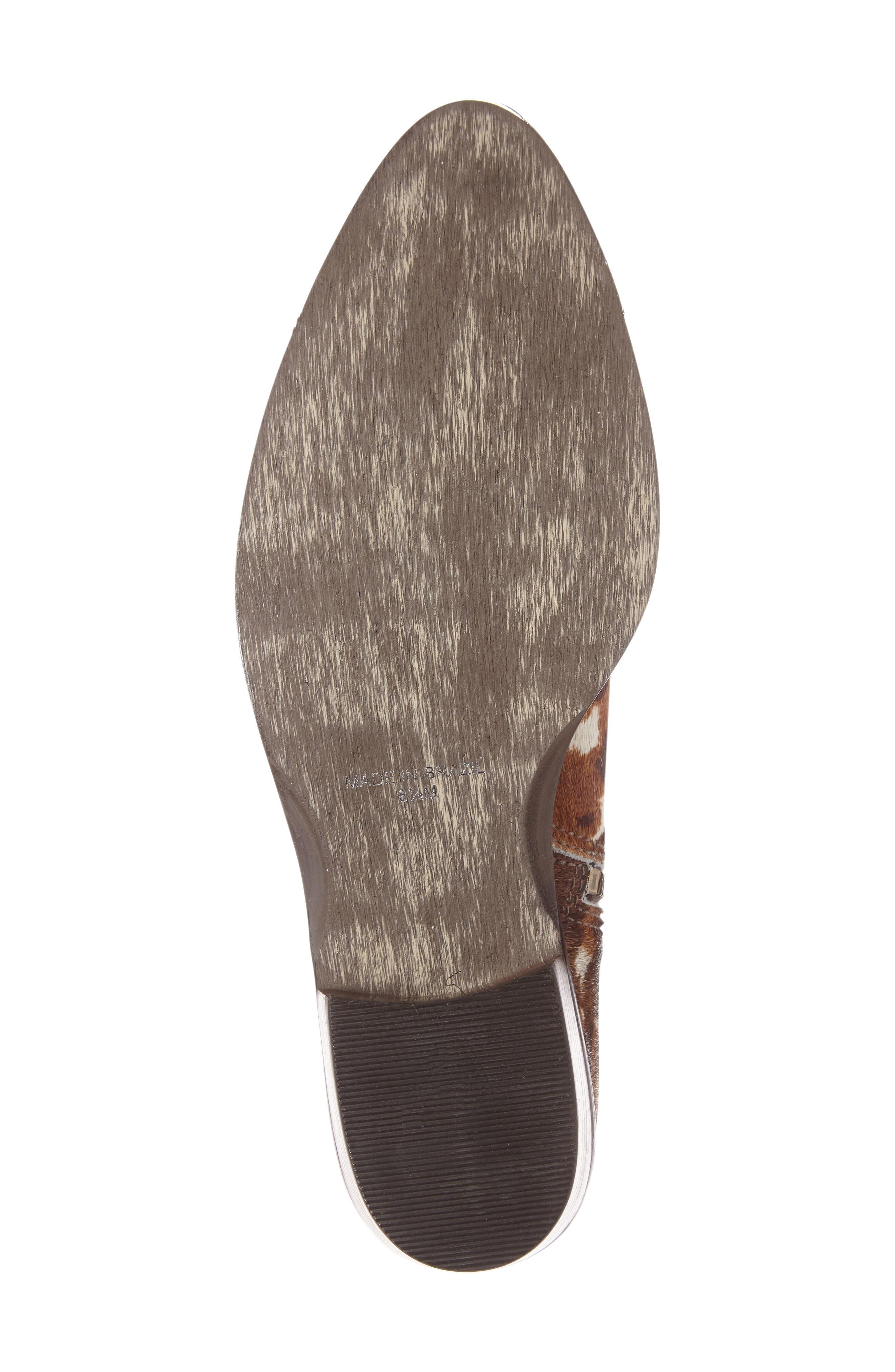 Orlin Genuine Calf Hair Bootie,                             Alternate thumbnail 4, color,                             200