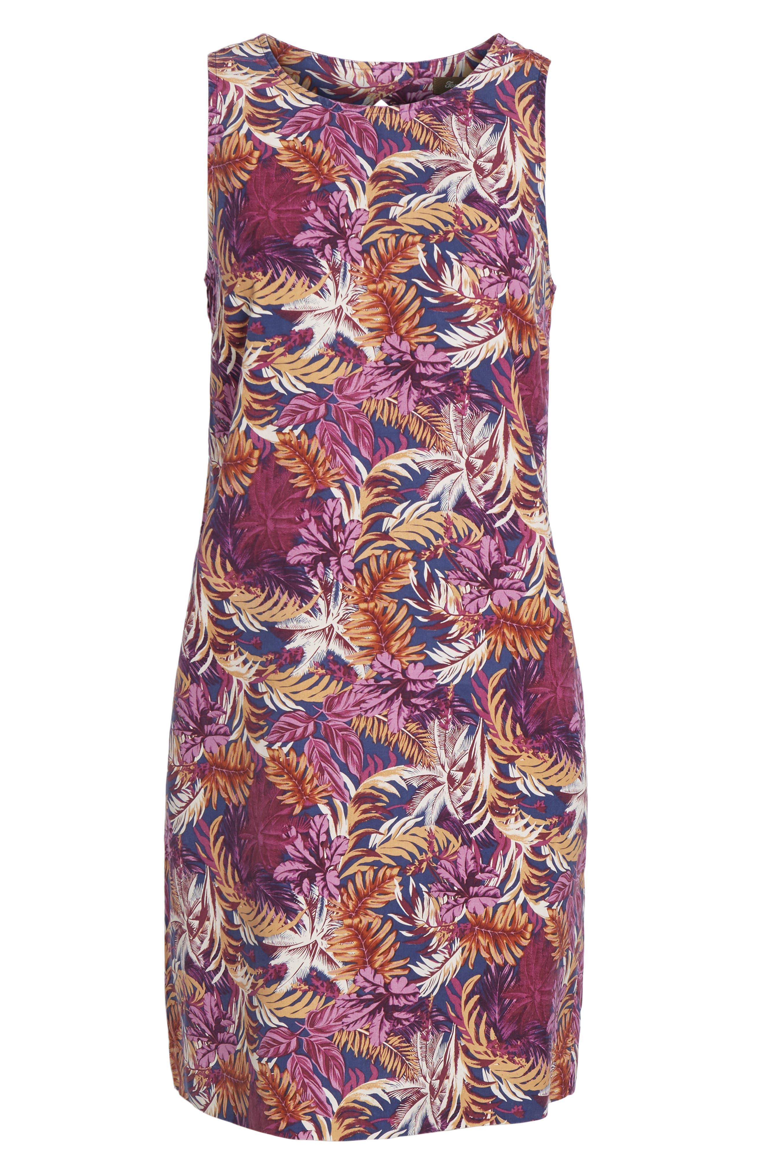 Ta-Leaf-A Silk Shift Dress,                             Alternate thumbnail 6, color,                             400