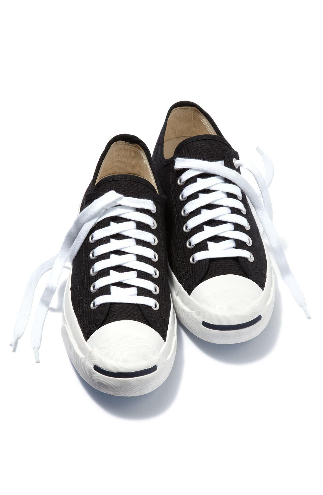 CONVERSE,                             'Jack Purcell' Sneaker,                             Alternate thumbnail 5, color,                             BLACK