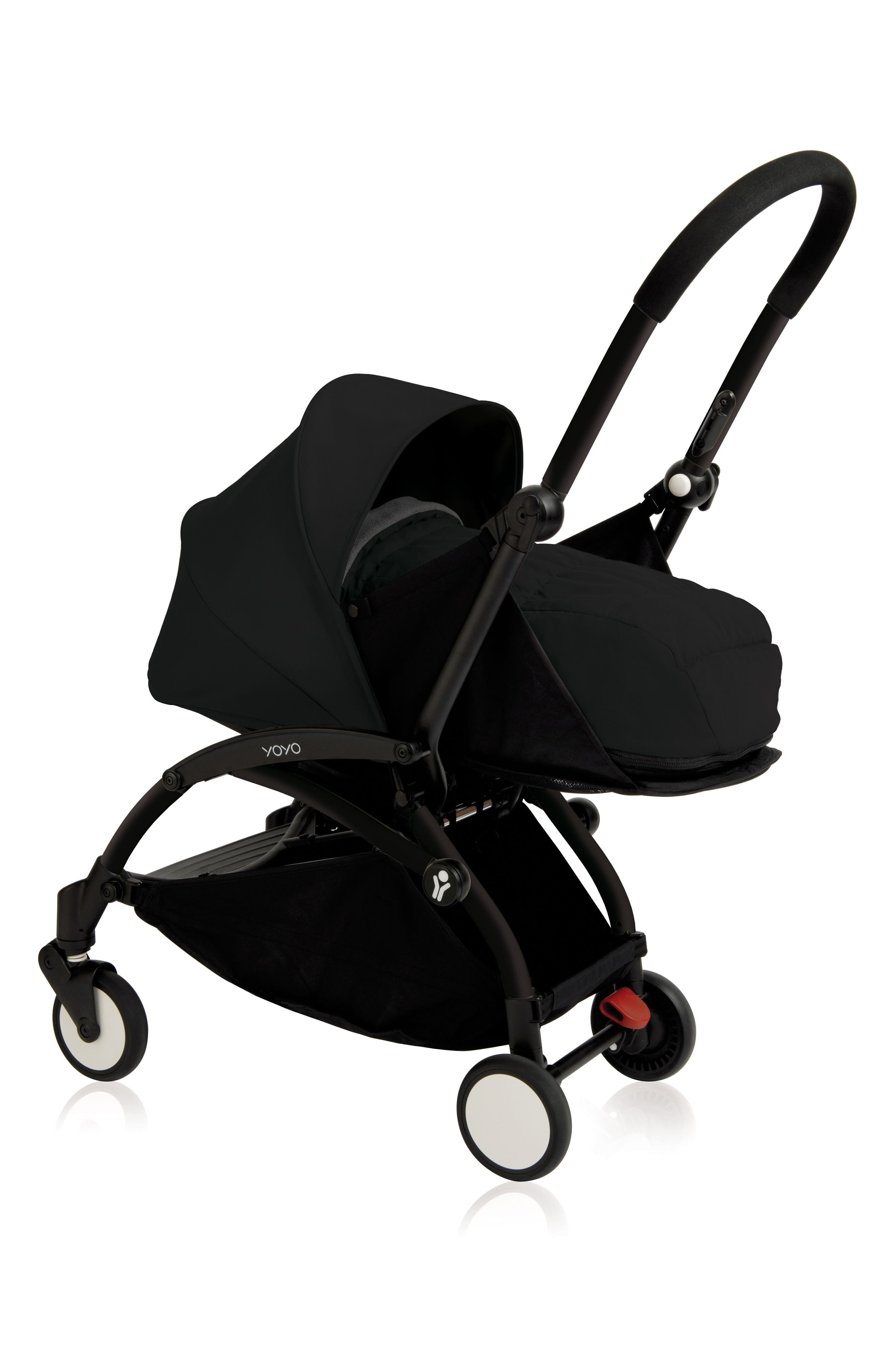 BABYZEN YOYO+ Complete Stroller with Newborn Color Pack Fabric Set,                             Main thumbnail 1, color,                             BLACK
