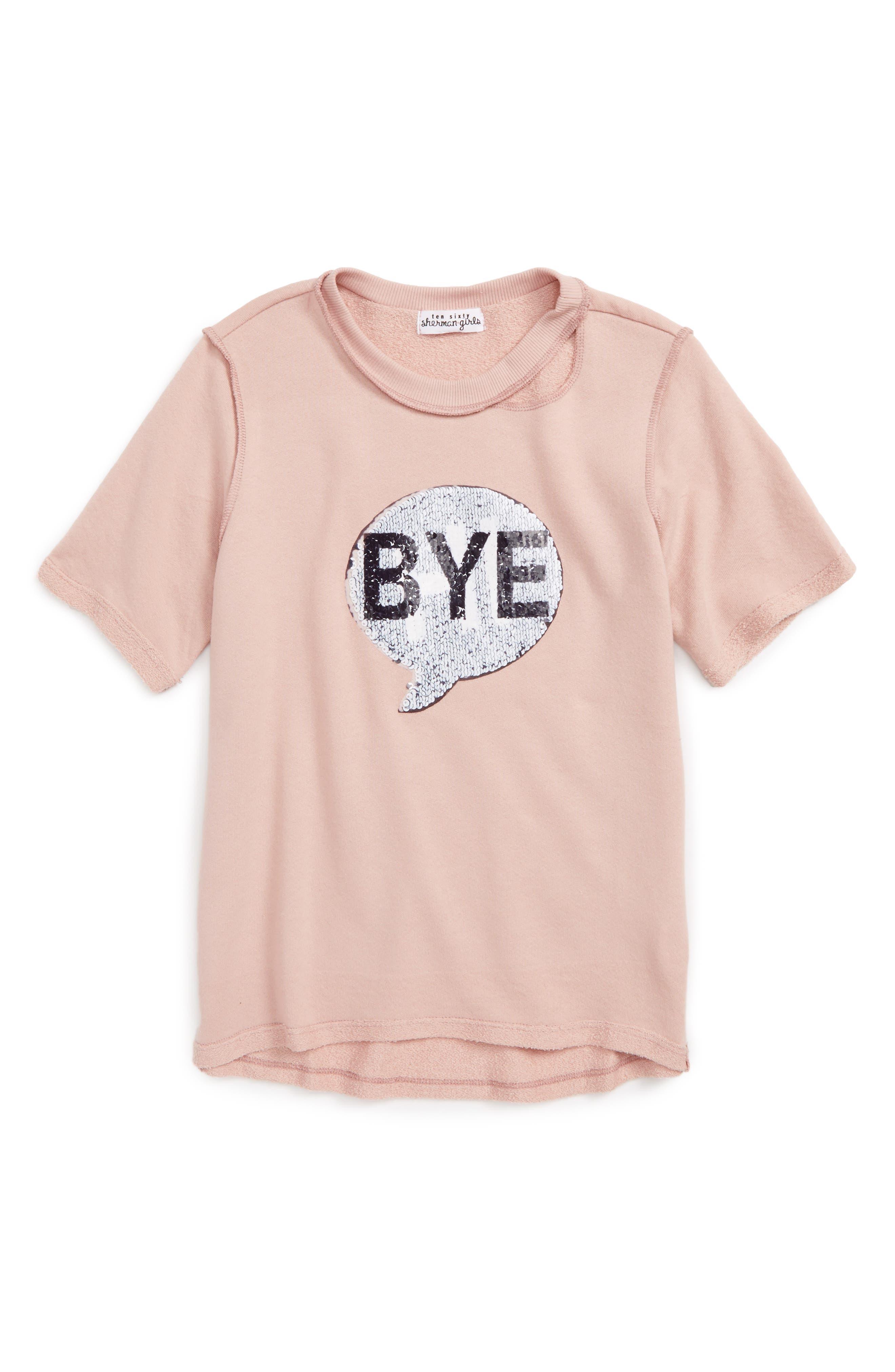 Hi/Bye Sequin Tee,                             Alternate thumbnail 2, color,                             658
