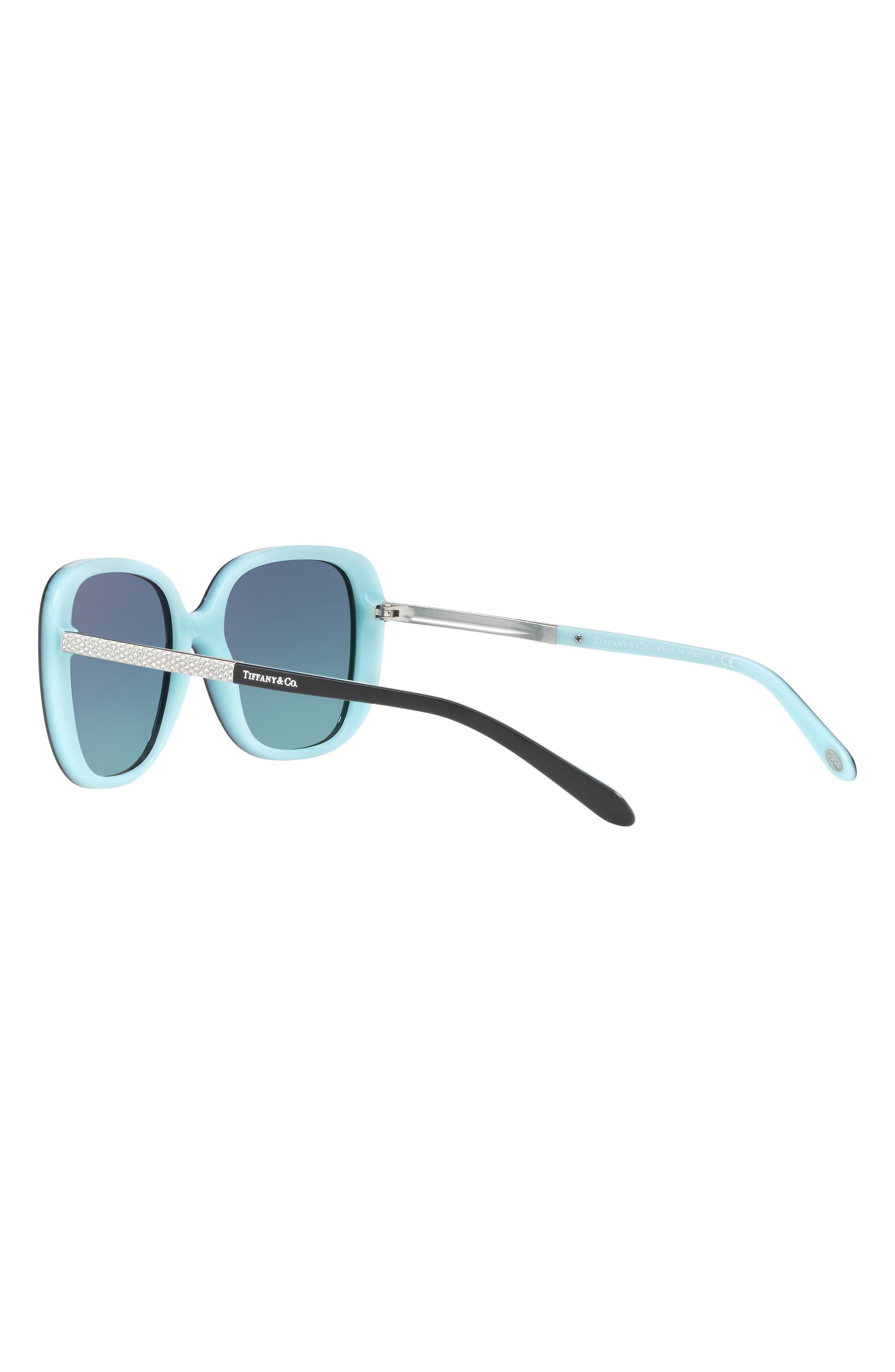 54mm Gradient Sunglasses,                             Alternate thumbnail 3, color,                             BLACK/ BLUE