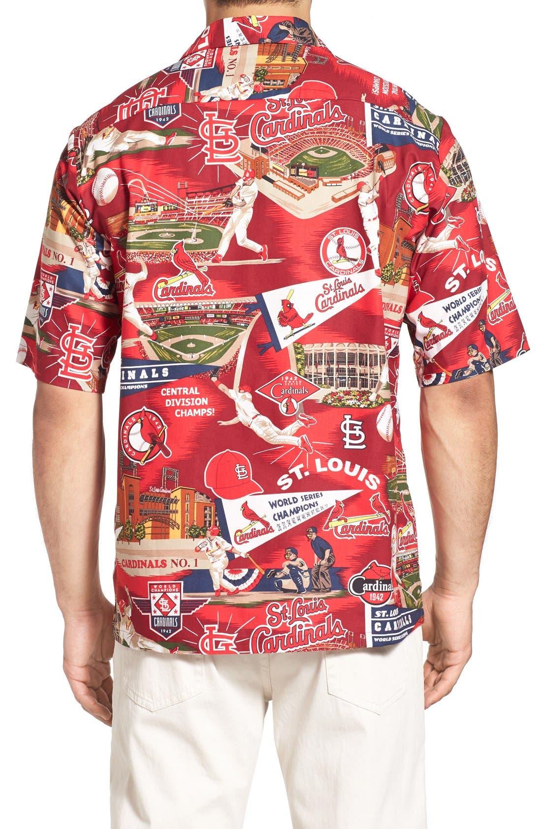 'St. Louis Cardinals' Print Camp Shirt,                             Alternate thumbnail 5, color,                             600