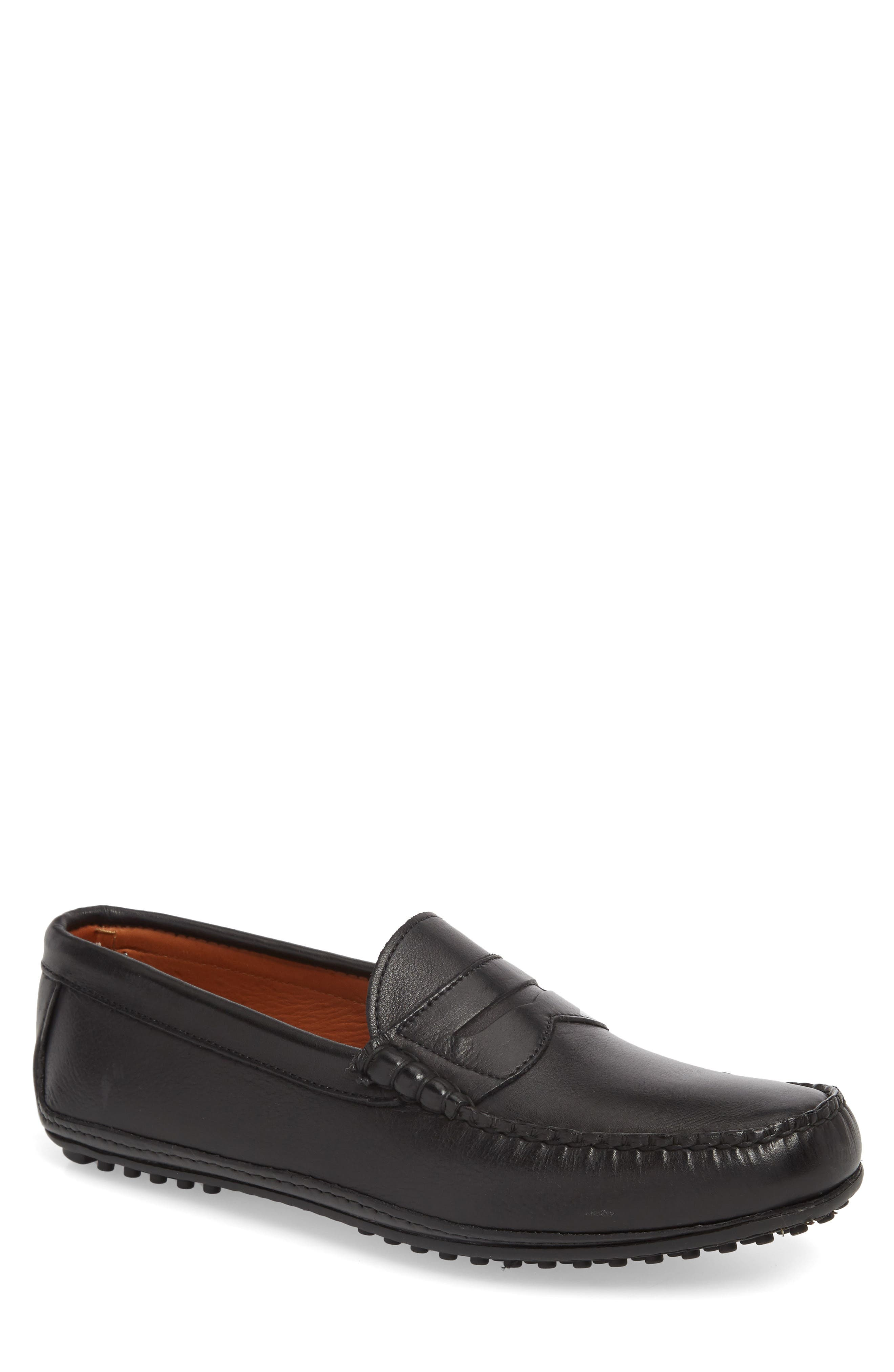 Siesta Key Penny Loafer,                             Main thumbnail 1, color,                             BLACK LEATHER