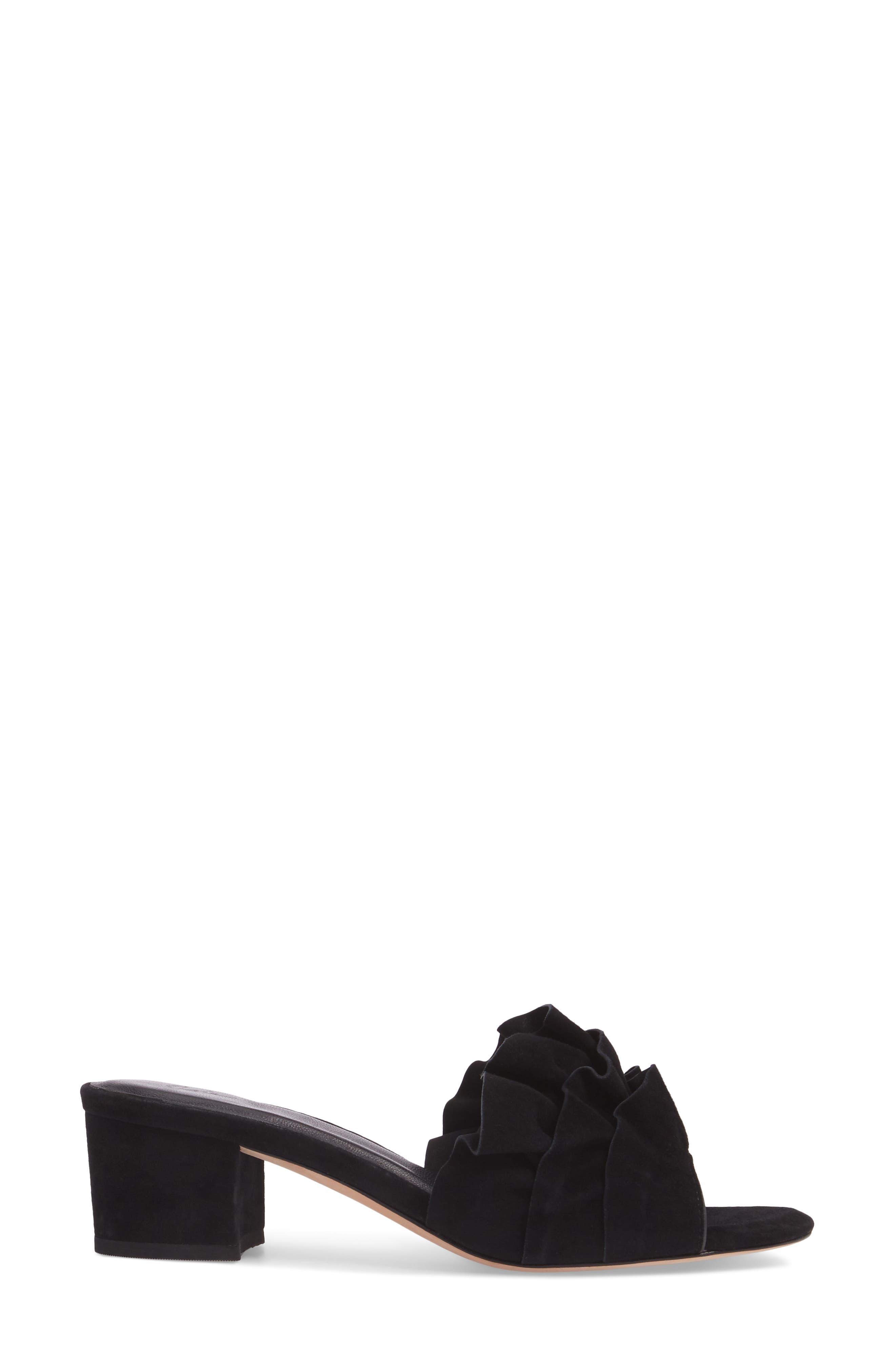 Mai Ruffle Slide Sandal,                             Alternate thumbnail 5, color,