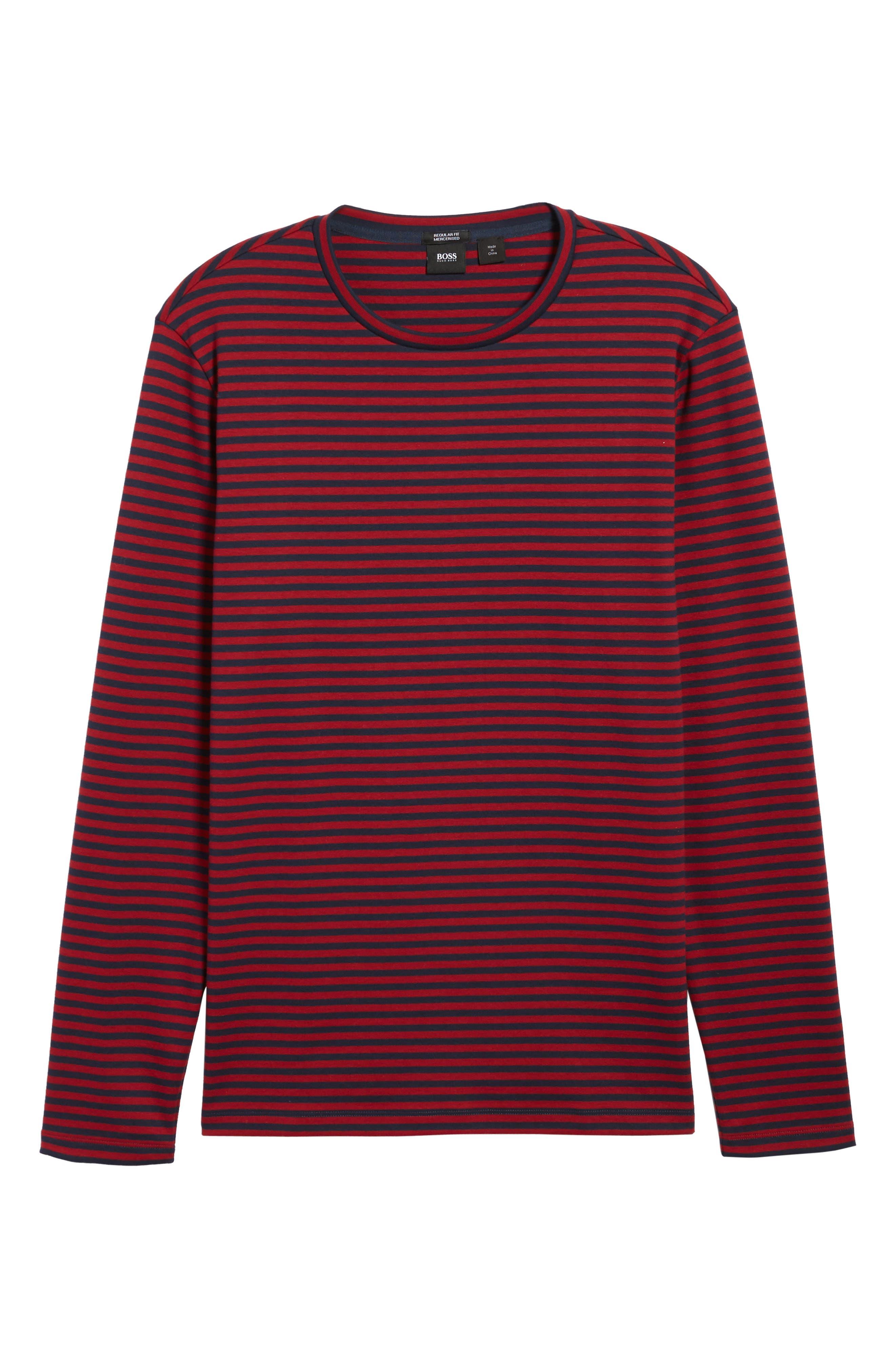 Stripe Long Sleeve T-Shirt,                             Alternate thumbnail 6, color,                             611