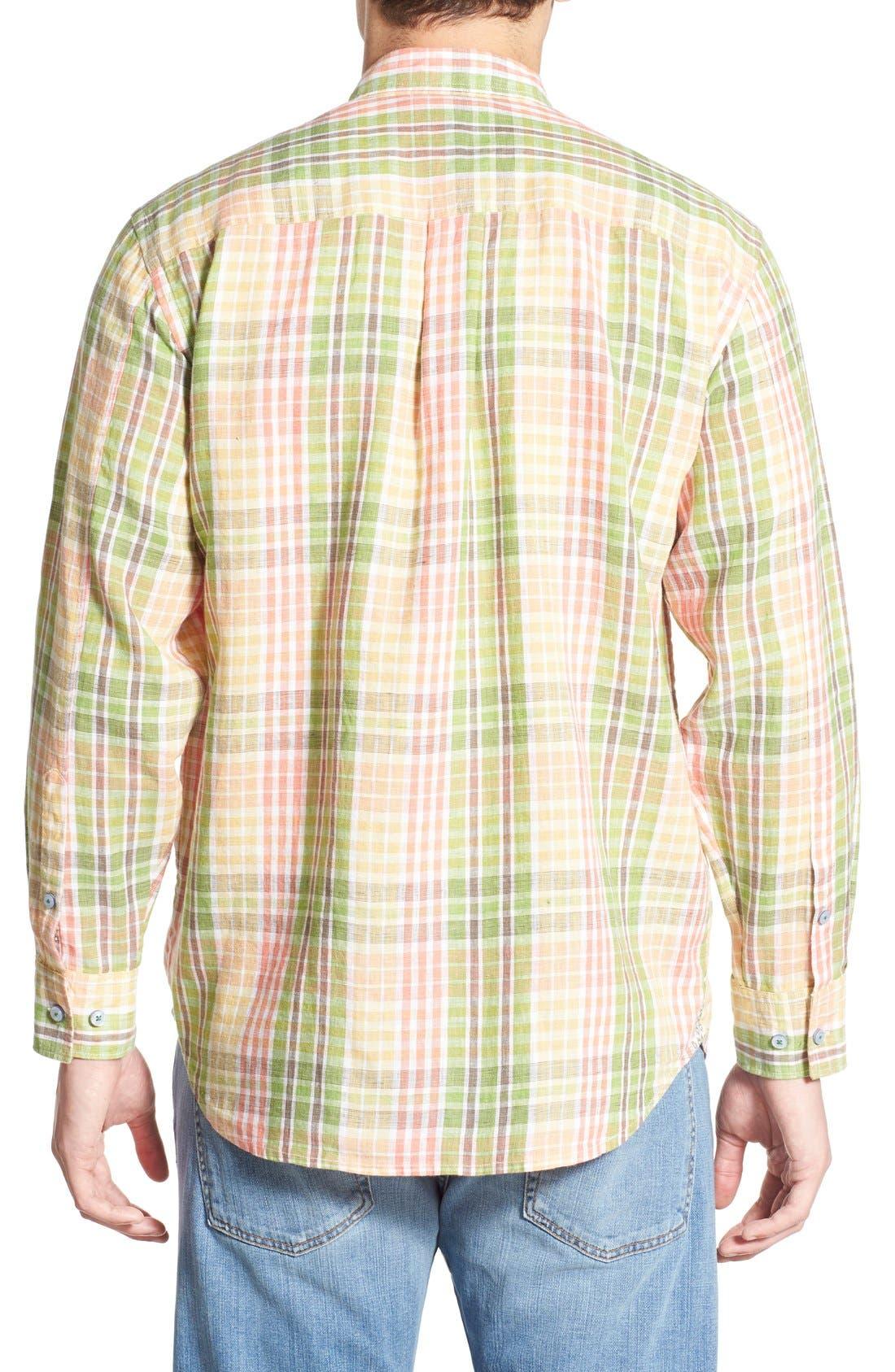 'Sun Direction' Regular Fit Plaid Sport Shirt,                             Alternate thumbnail 3, color,