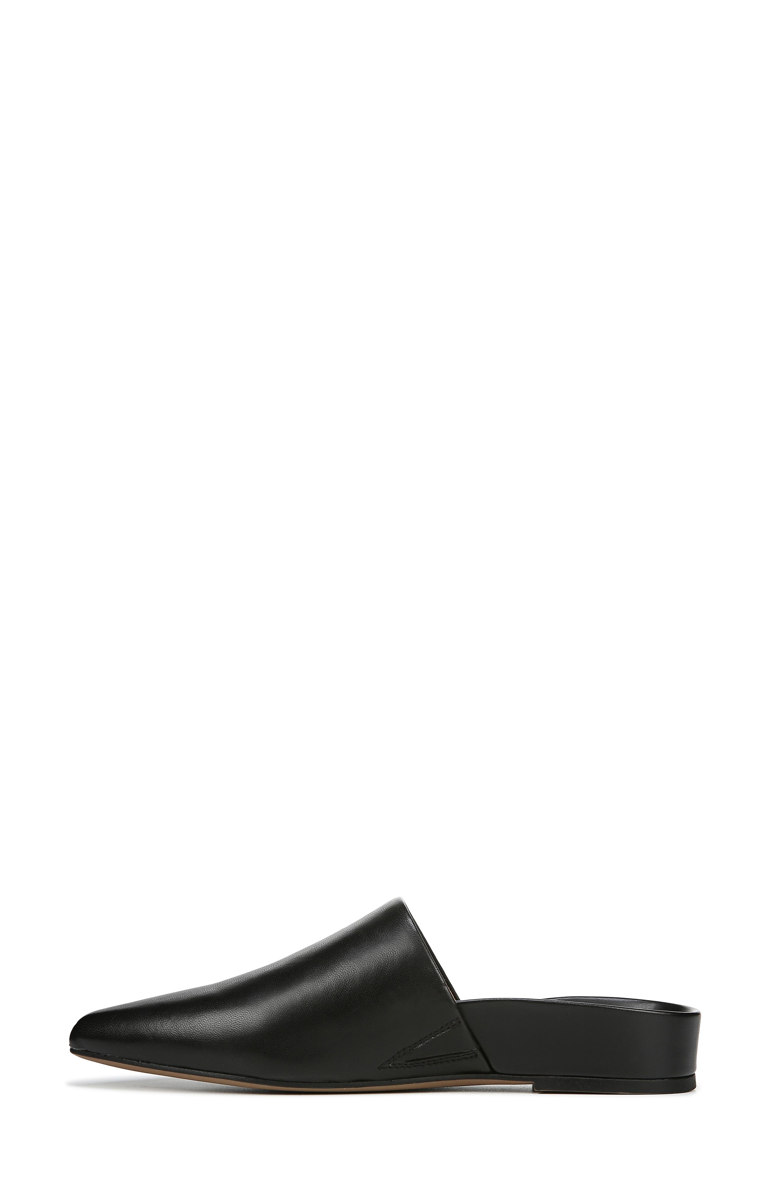 SARTO BY FRANCO SARTO,                             Irma Pointy Toe Mule,                             Alternate thumbnail 9, color,                             BLACK LEATHER