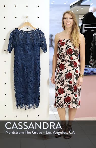Guipure Lace Sheath Dress, sales video thumbnail