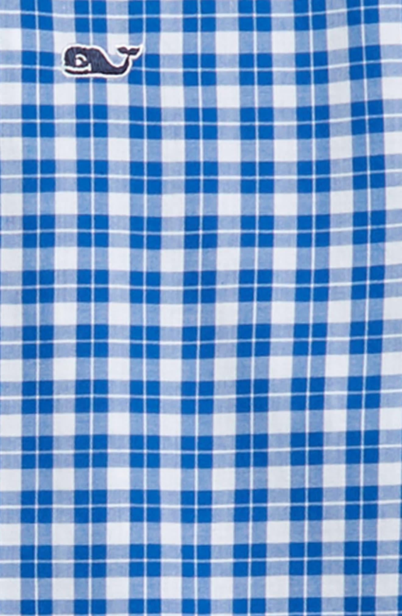 Eagle Hill Poplin Whale Shirt,                             Alternate thumbnail 2, color,                             YACHT BLUE