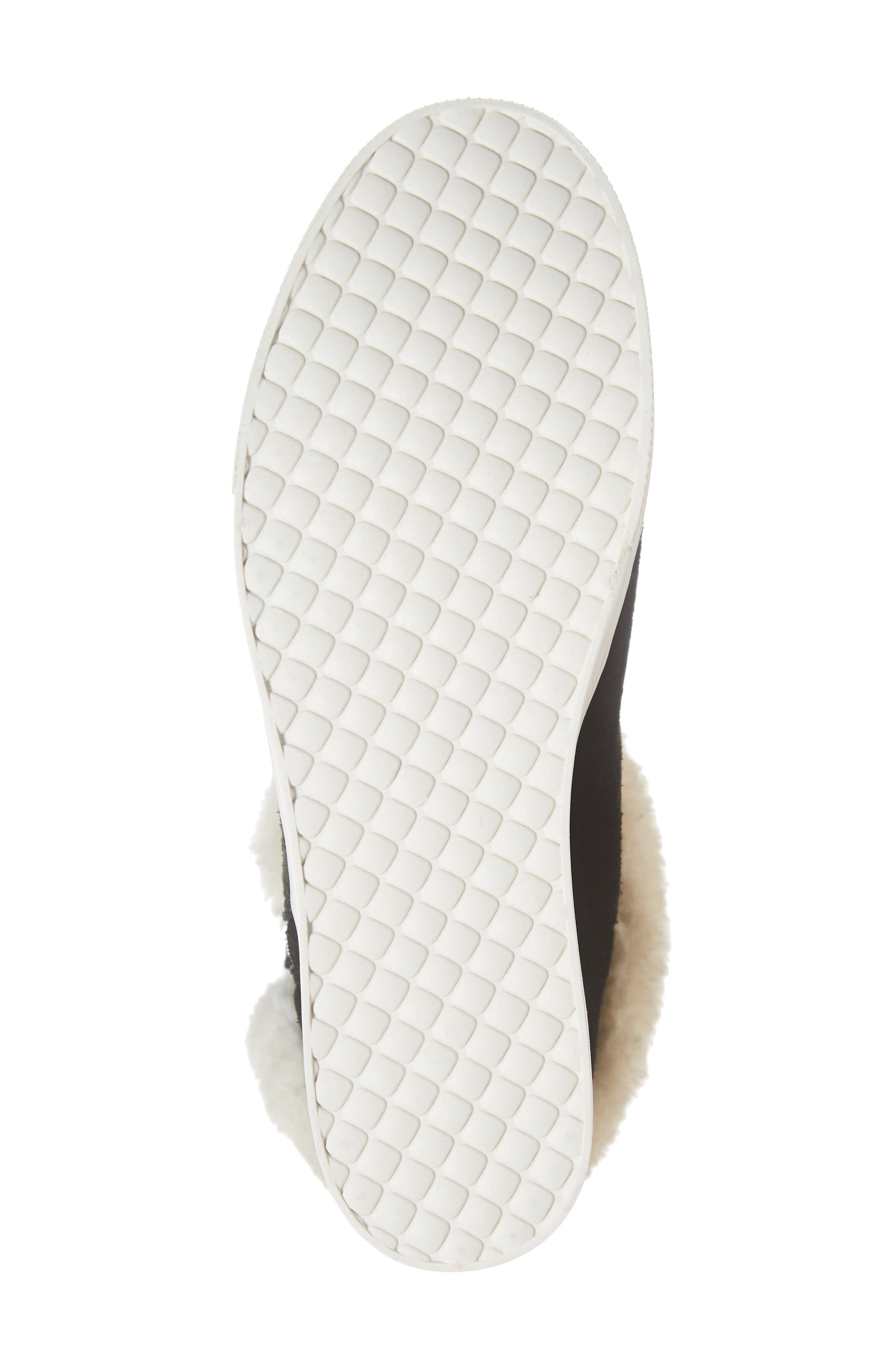 STEVE MADDEN,                             Faux Fur Lined Sneaker,                             Alternate thumbnail 6, color,                             006