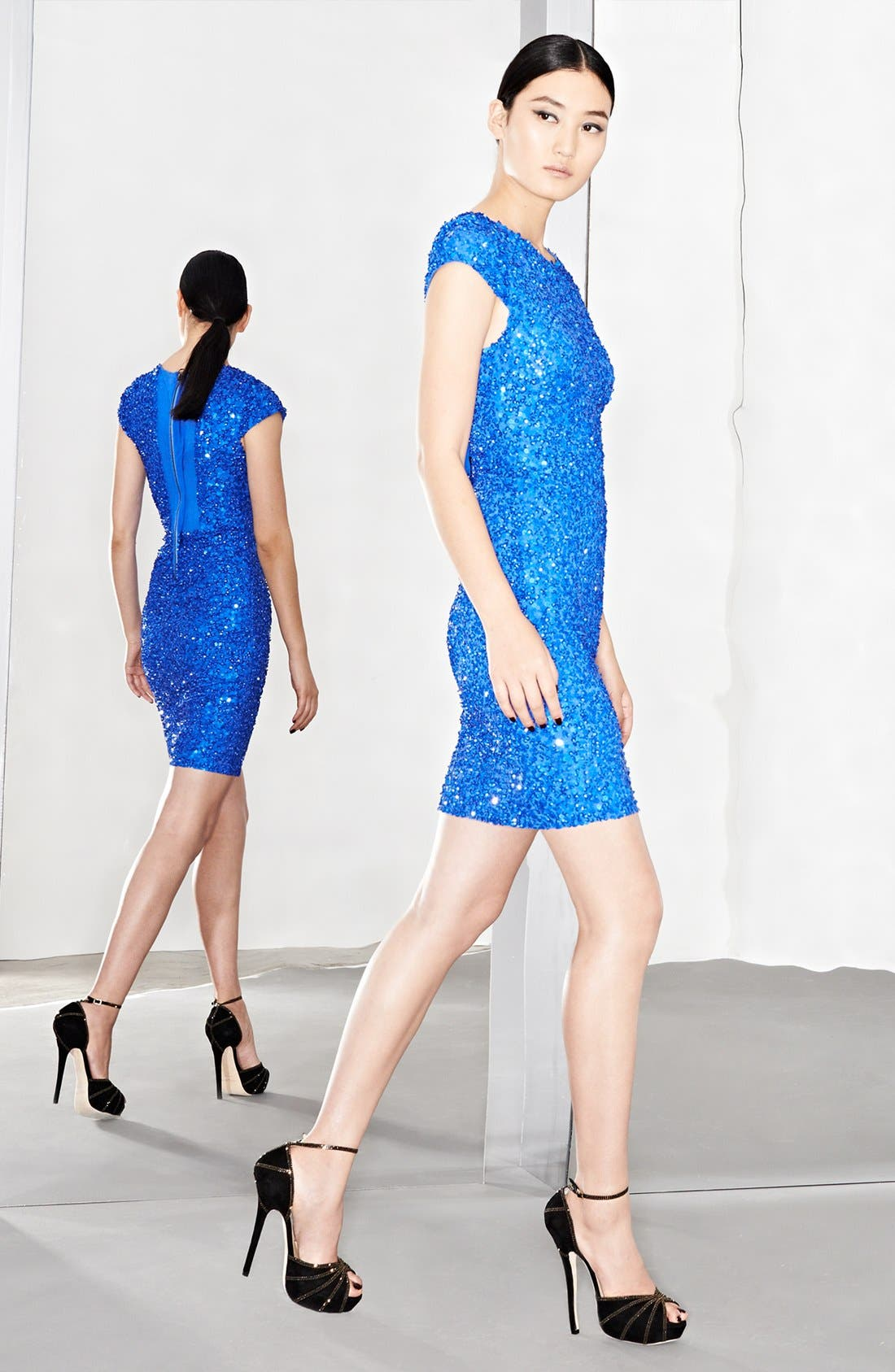 'Taryn' Sequin Dress,                             Alternate thumbnail 4, color,                             437