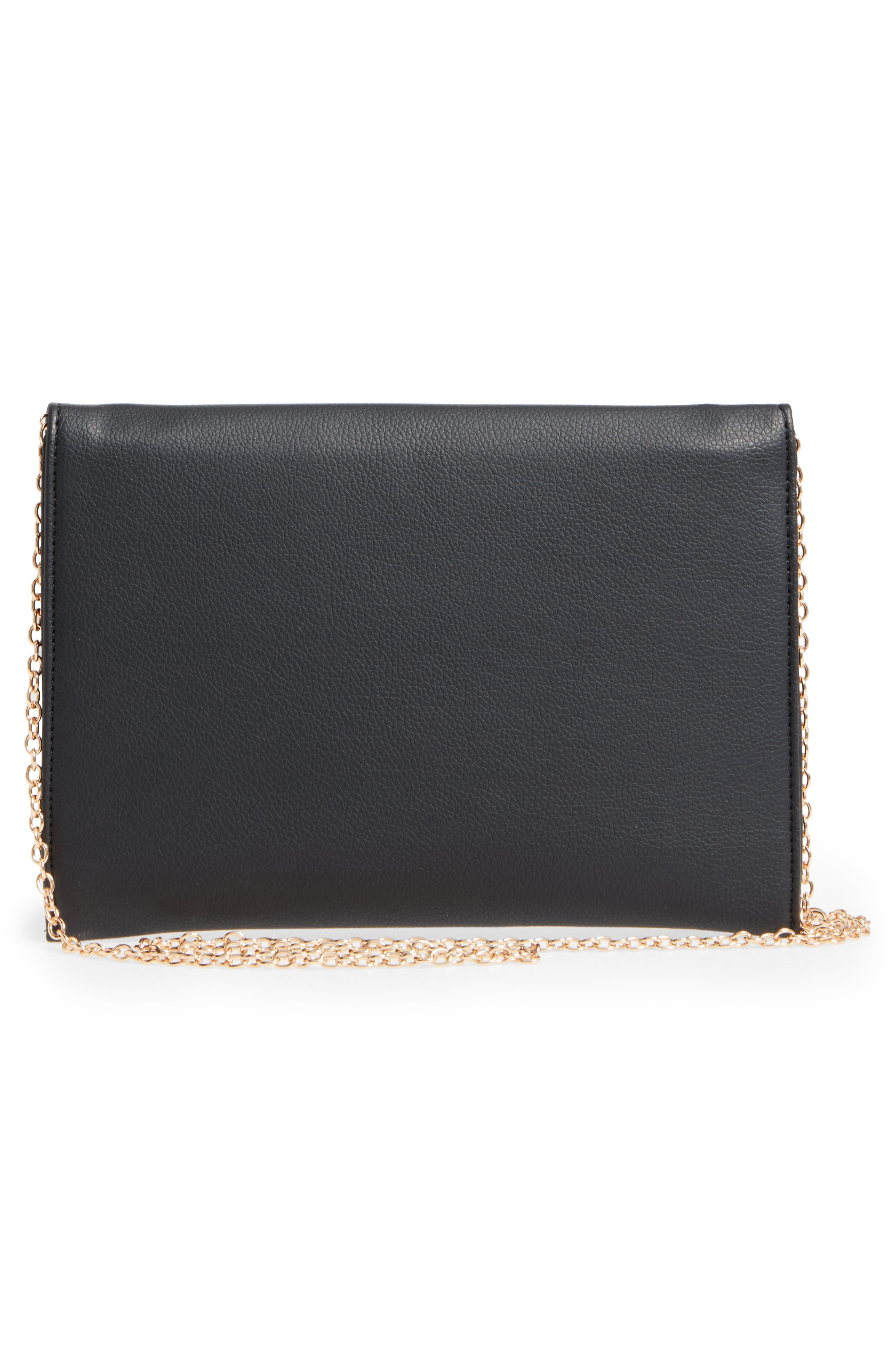 NATASHA COUTURE,                             Natasha Chain Clutch,                             Alternate thumbnail 3, color,                             001