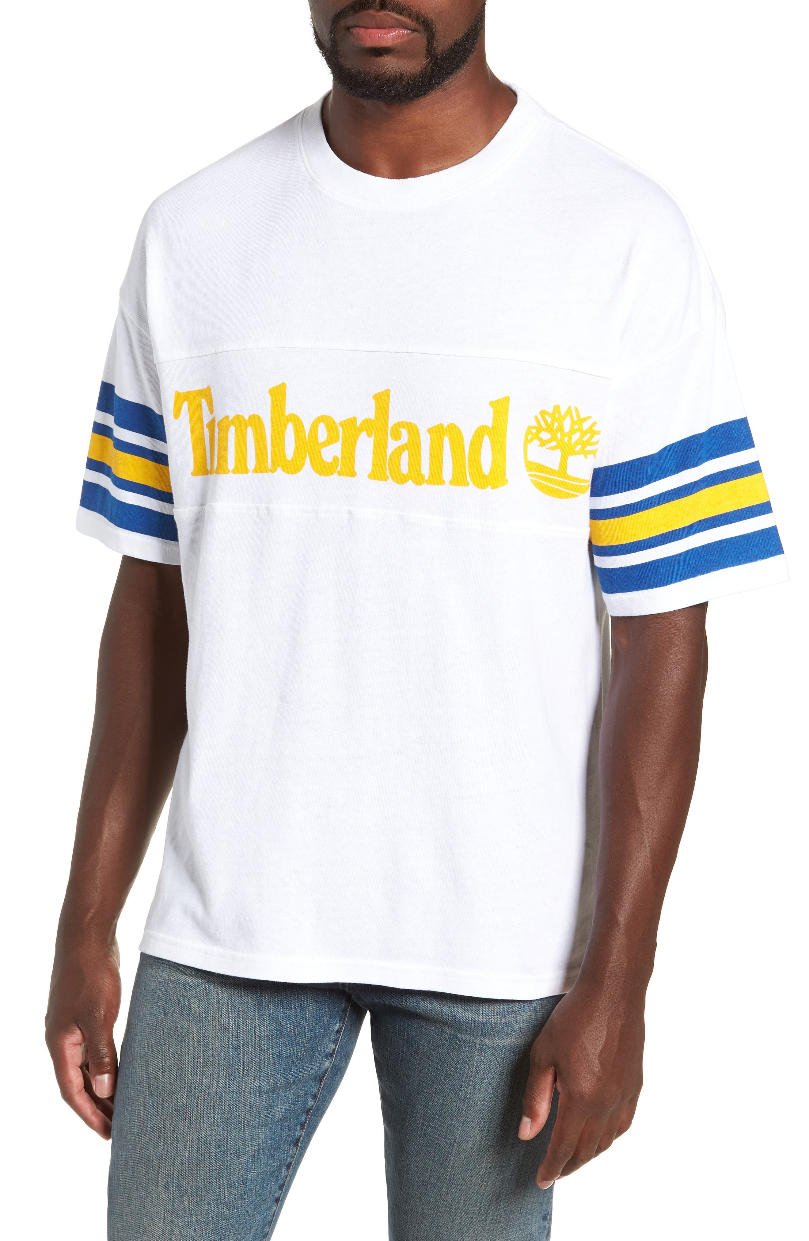 Oversize '90s Logo T-Shirt,                         Main,                         color, WHITE