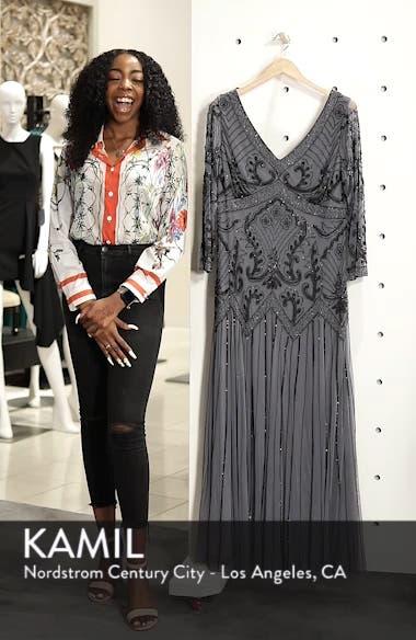 Embellished Double V-Neck Long Dress, sales video thumbnail