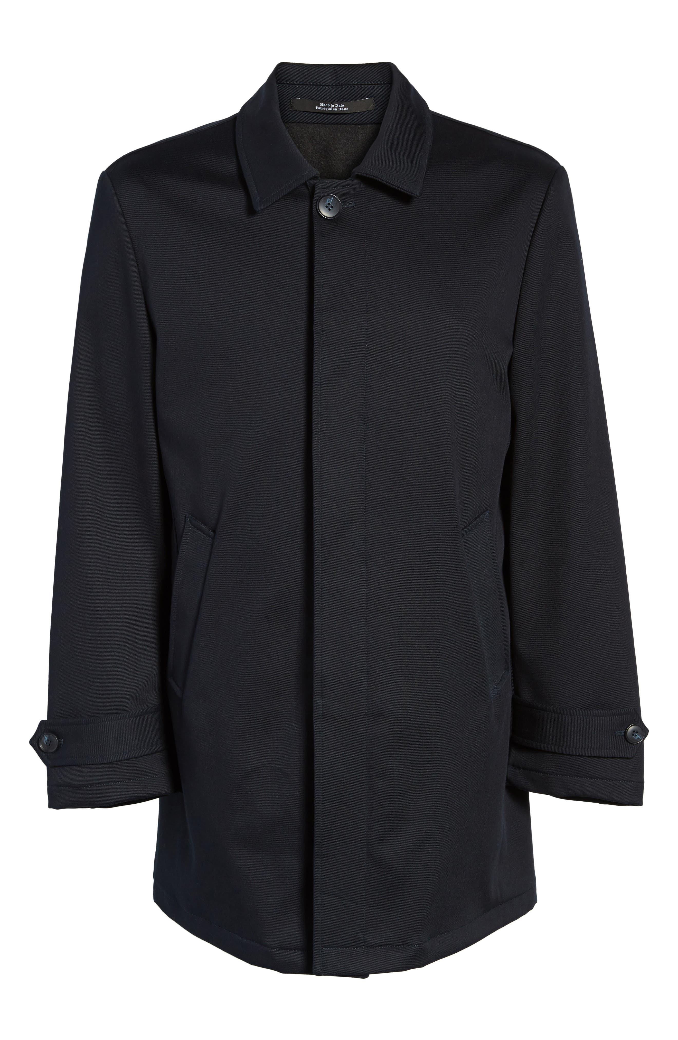 Grayson Stretch Cotton Blend Car Coat,                             Alternate thumbnail 5, color,