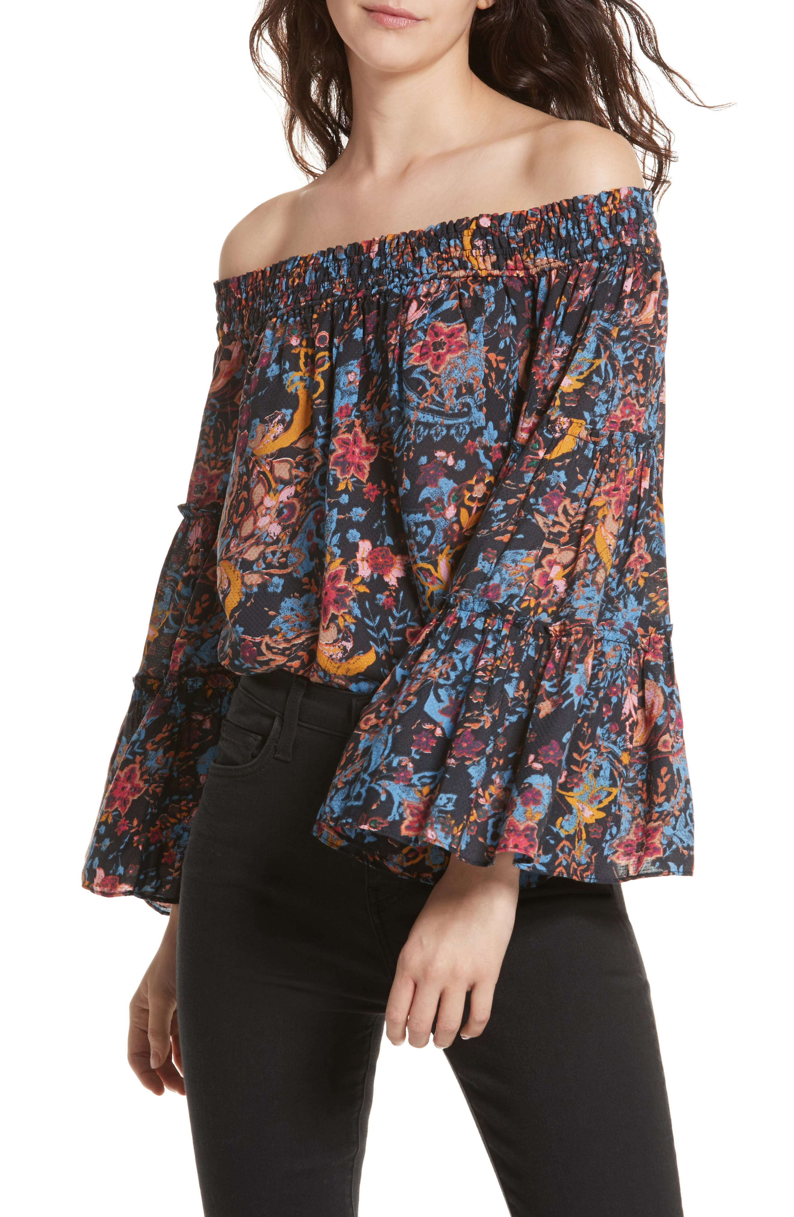 Free Spirit Off the Shoulder Top,                             Main thumbnail 1, color,                             001