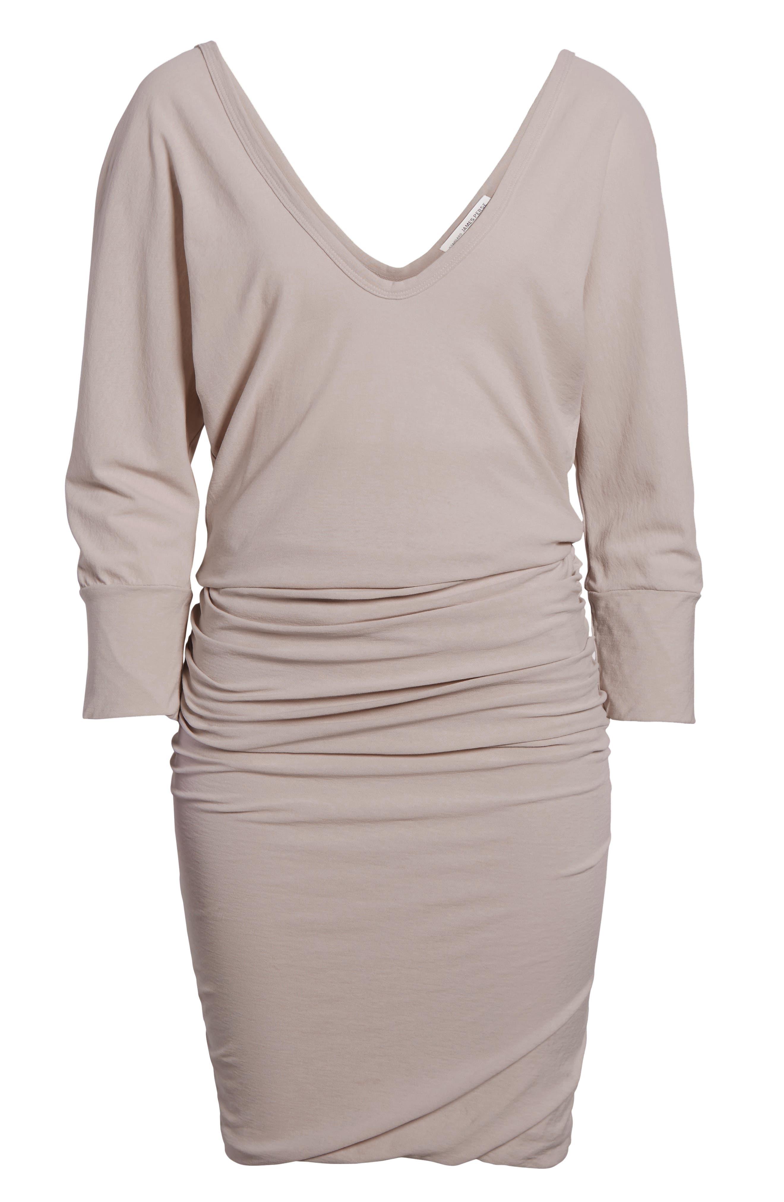 Shirred Cotton Dress,                             Alternate thumbnail 7, color,                             085