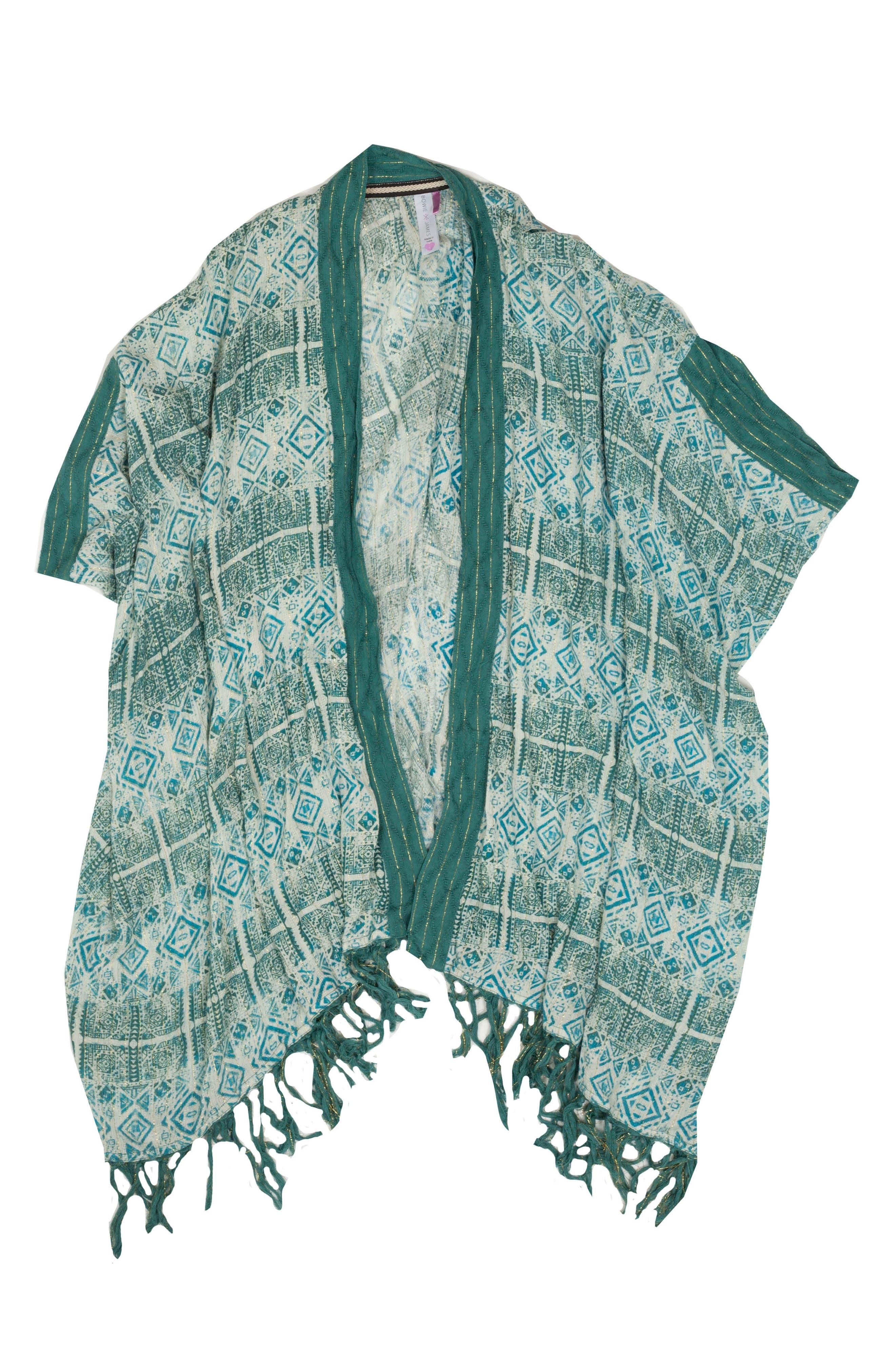 Stardust Kimono Cover-Up,                             Main thumbnail 1, color,                             SILVER