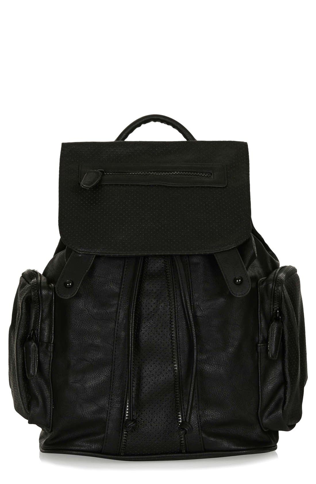 Perforated Backpack,                         Main,                         color, 001