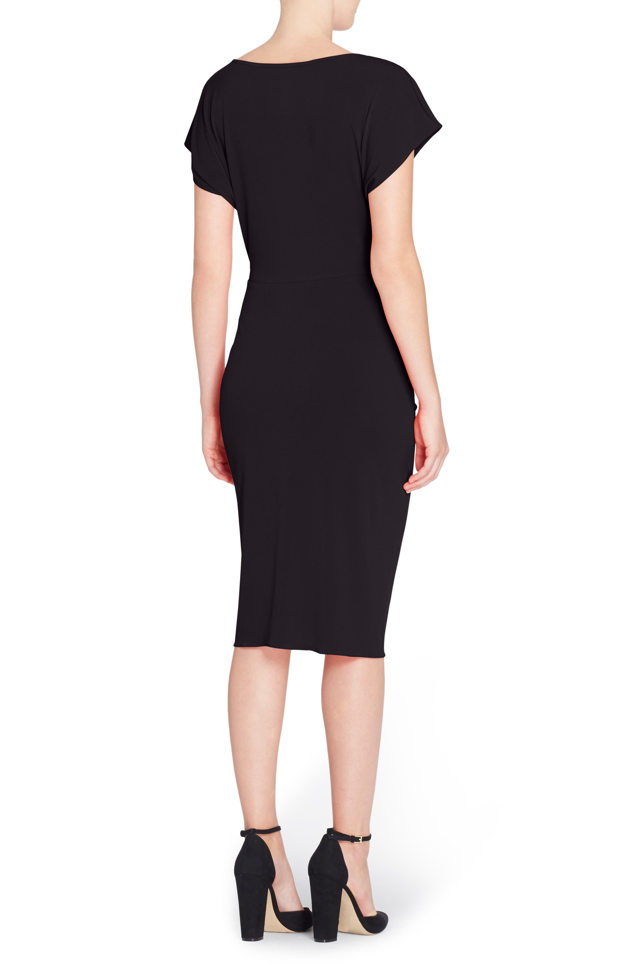 Char Stretch Jersey Sheath Dress,                             Alternate thumbnail 3, color,