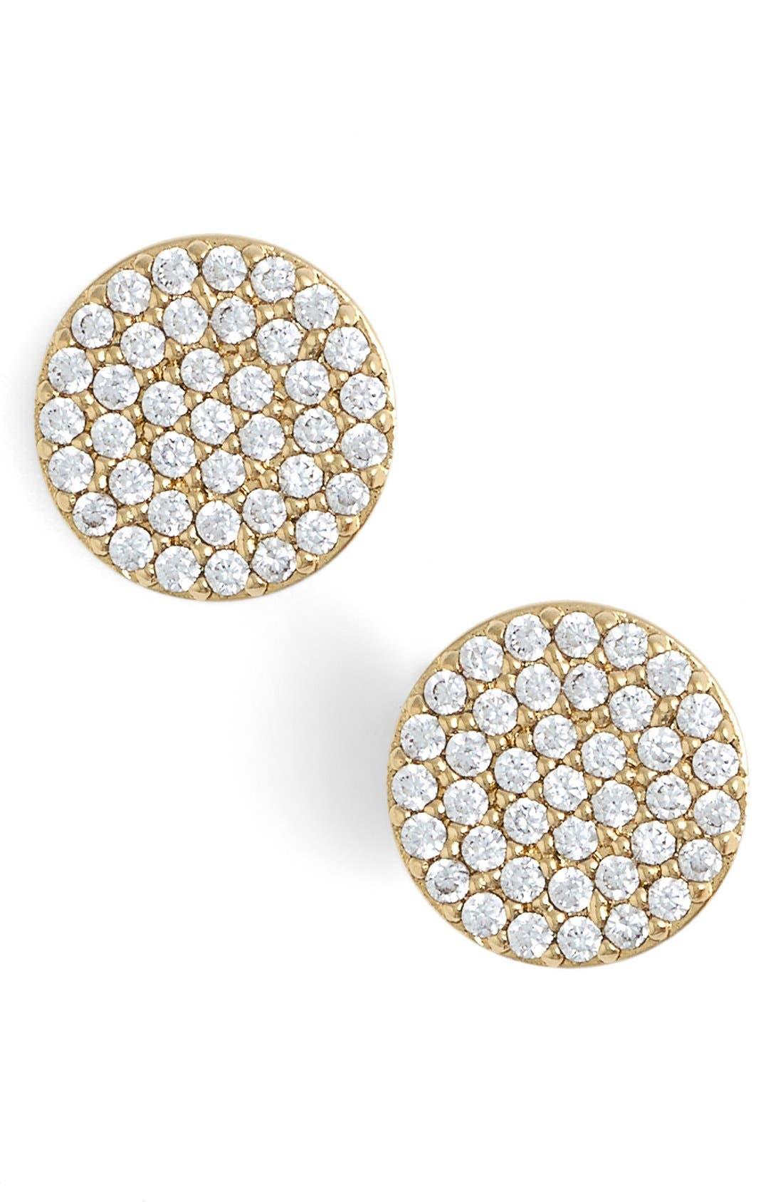 'Geo' Stud Earrings,                             Main thumbnail 1, color,                             GOLD