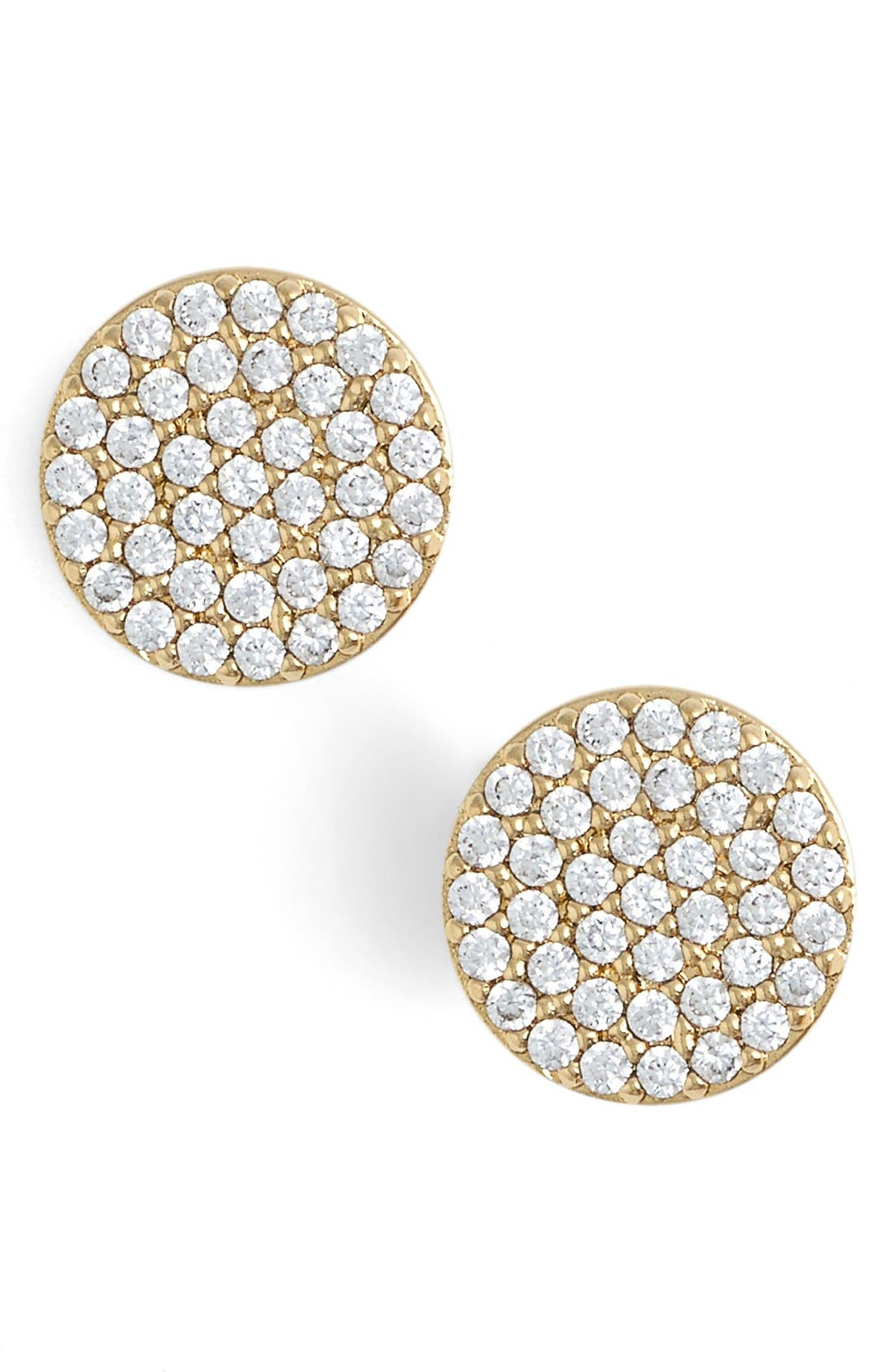 'Geo' Stud Earrings,                         Main,                         color, GOLD