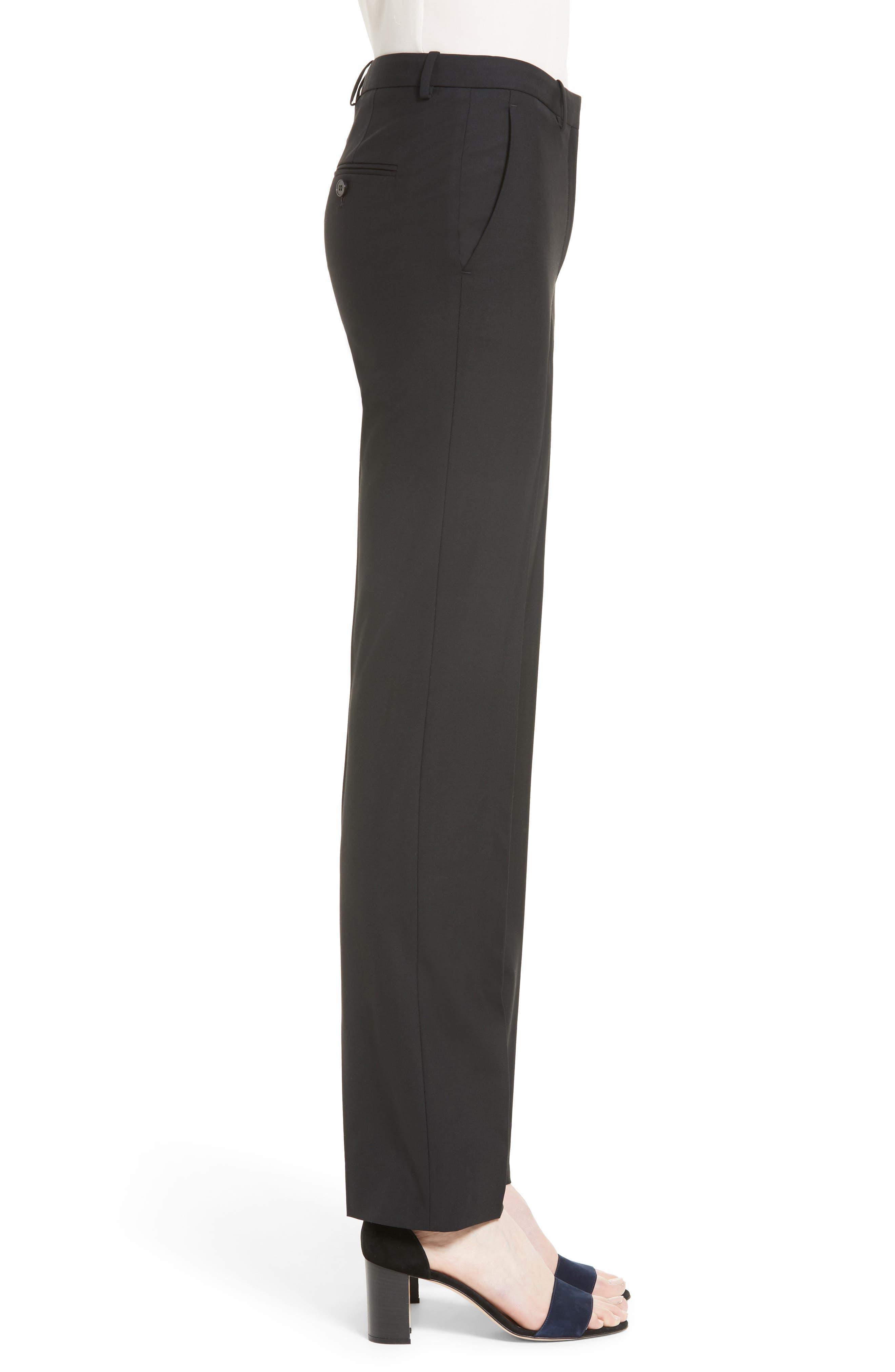 Hartsdale B Good Wool Suit Pants,                             Alternate thumbnail 3, color,                             BLACK