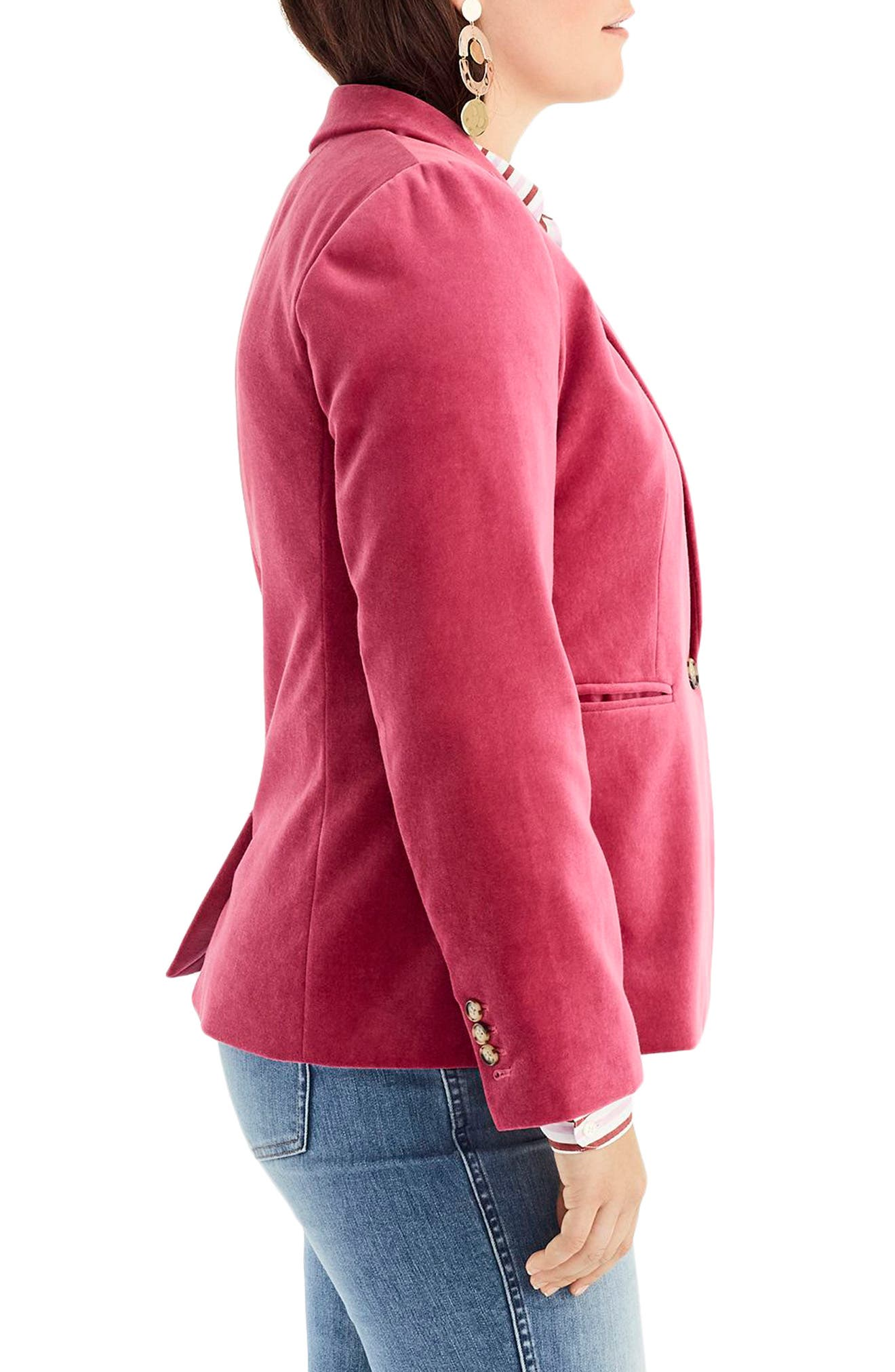 Parke Velvet Blazer,                             Alternate thumbnail 8, color,                             DRIED ROSE