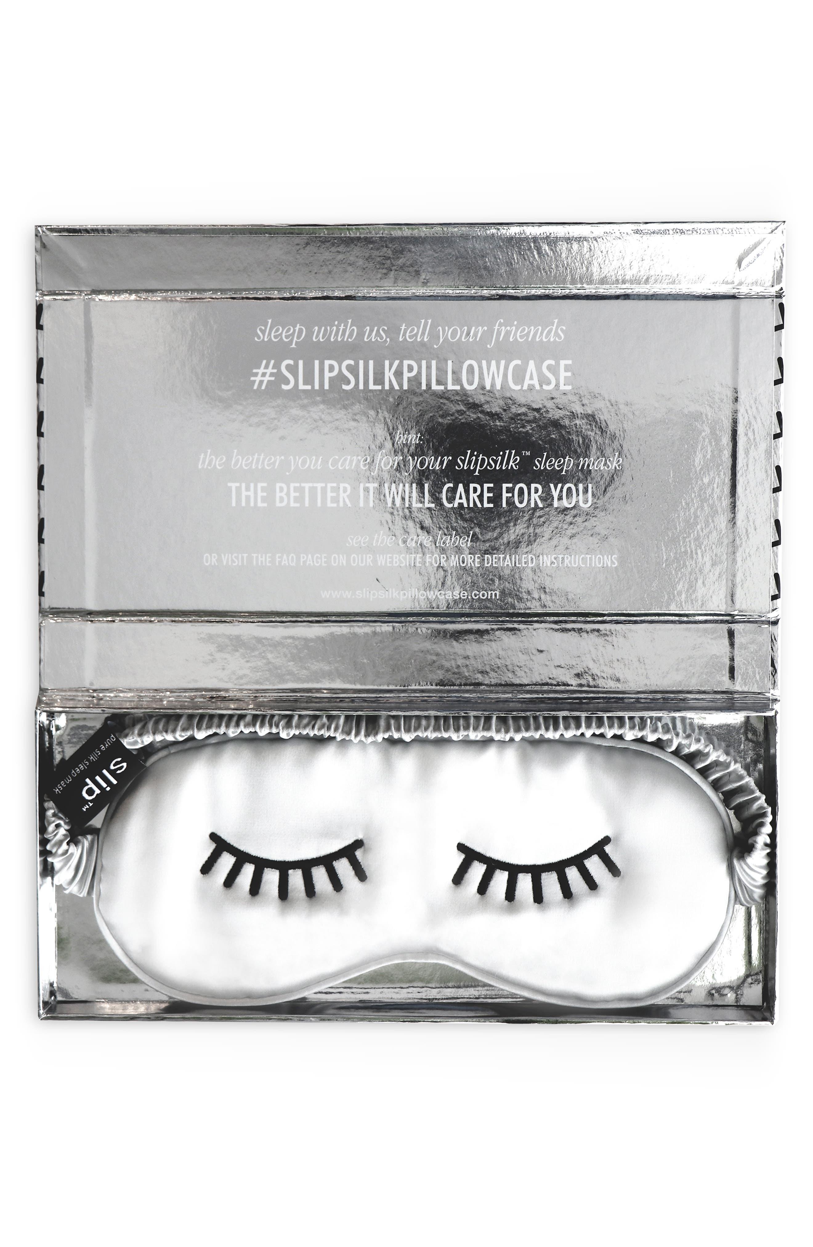 slip<sup>™</sup> for beauty sleep Slipsilk<sup>™</sup> Lovely Lashes Silk Sleep Mask,                             Alternate thumbnail 2, color,                             SILVER
