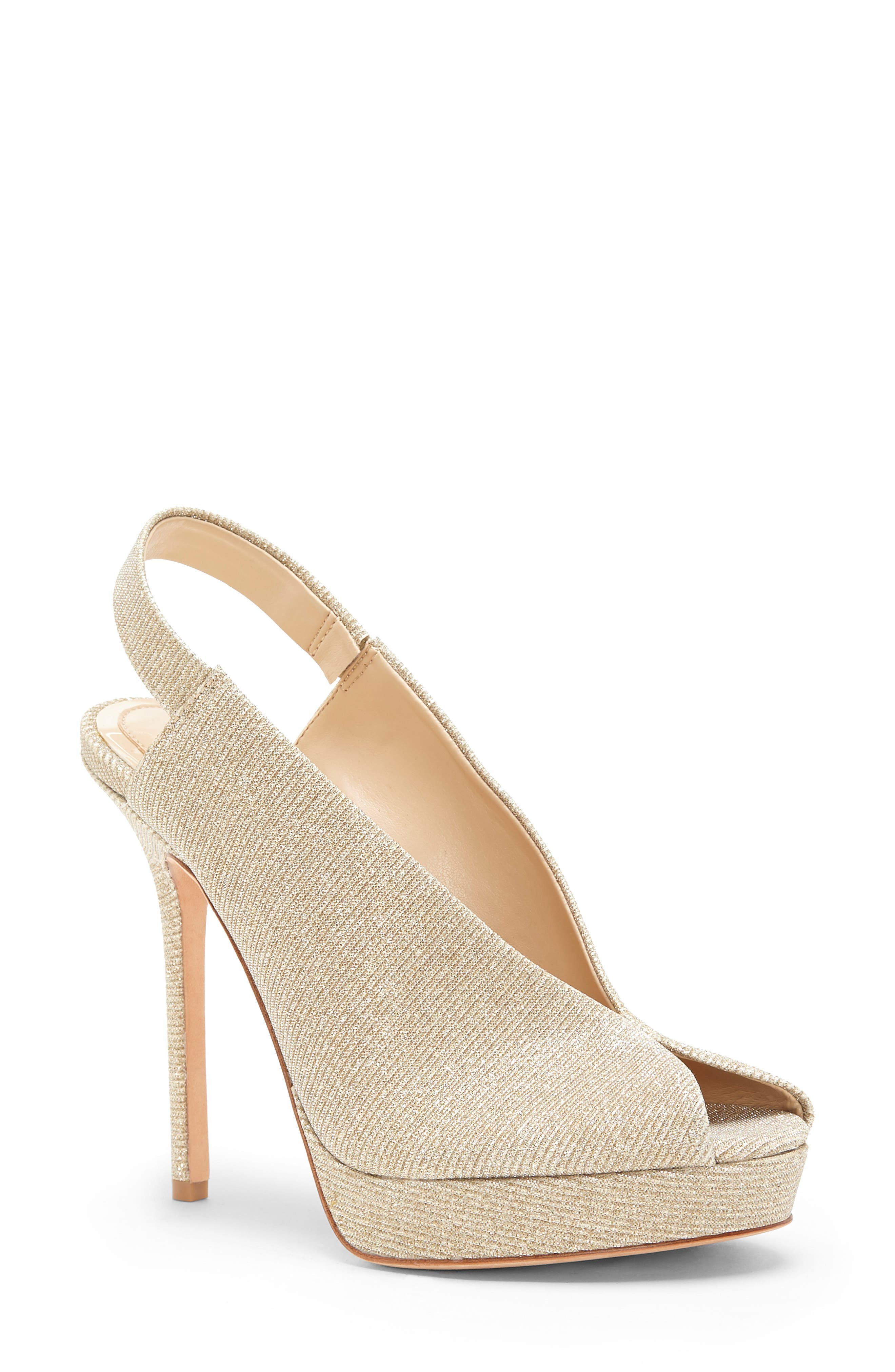 Imagine By Vince Camuto Reany Platform Sandal- Metallic
