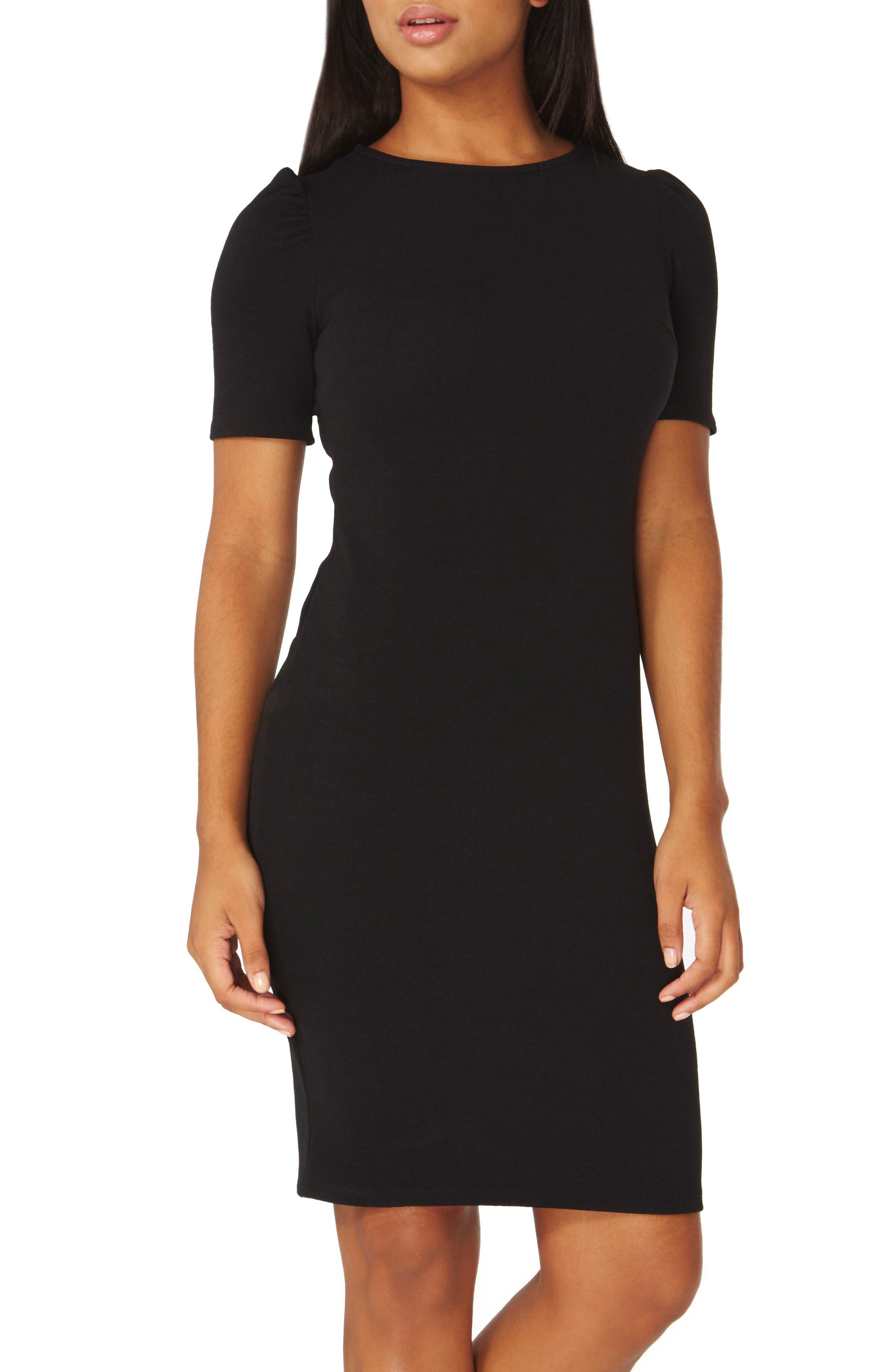 Body-Con Dress,                             Alternate thumbnail 3, color,                             001