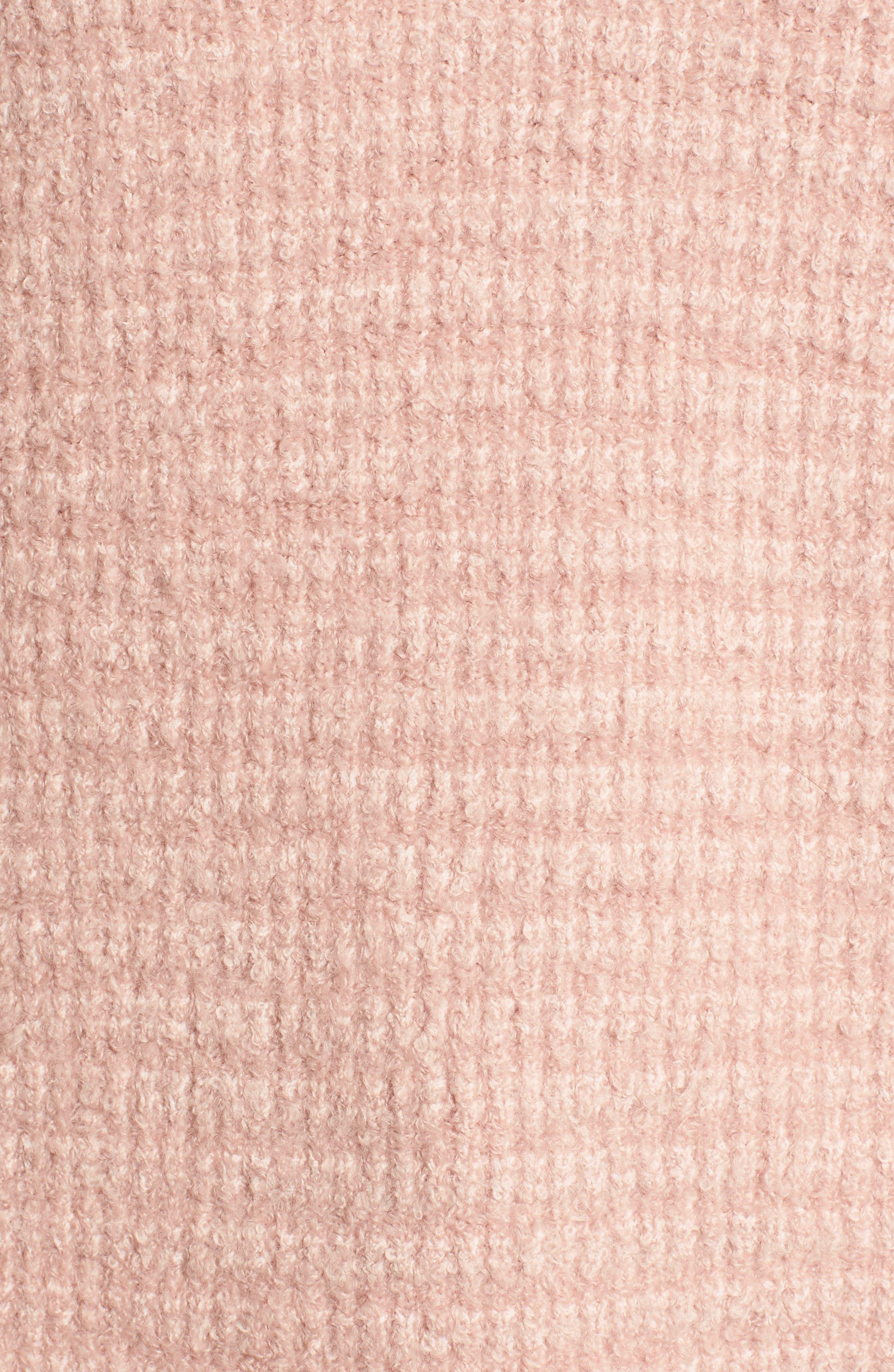 Lace Inset V-Neck Sweater,                             Alternate thumbnail 5, color,                             650