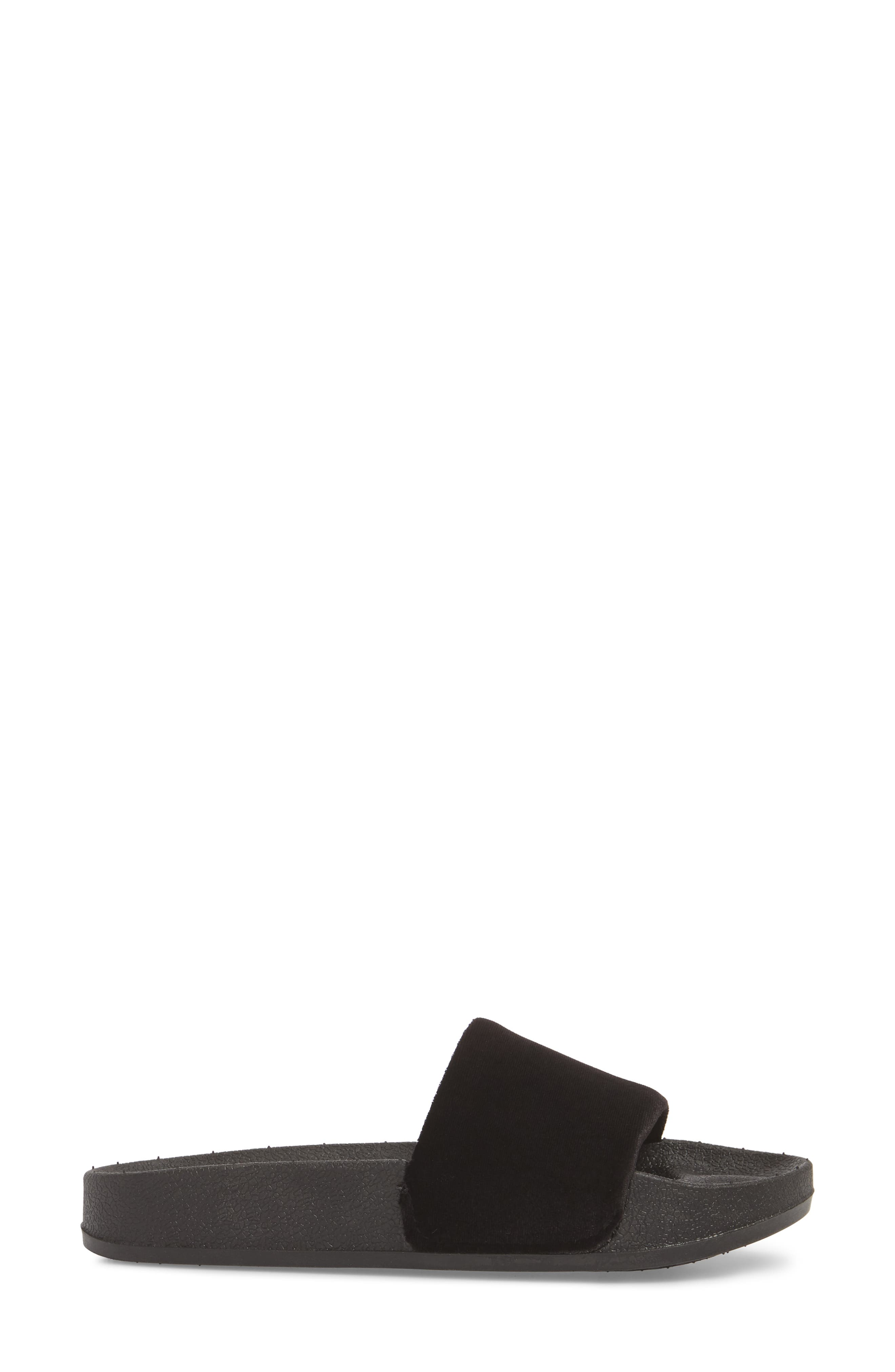 Slide Sandal,                             Alternate thumbnail 3, color,                             BLACK