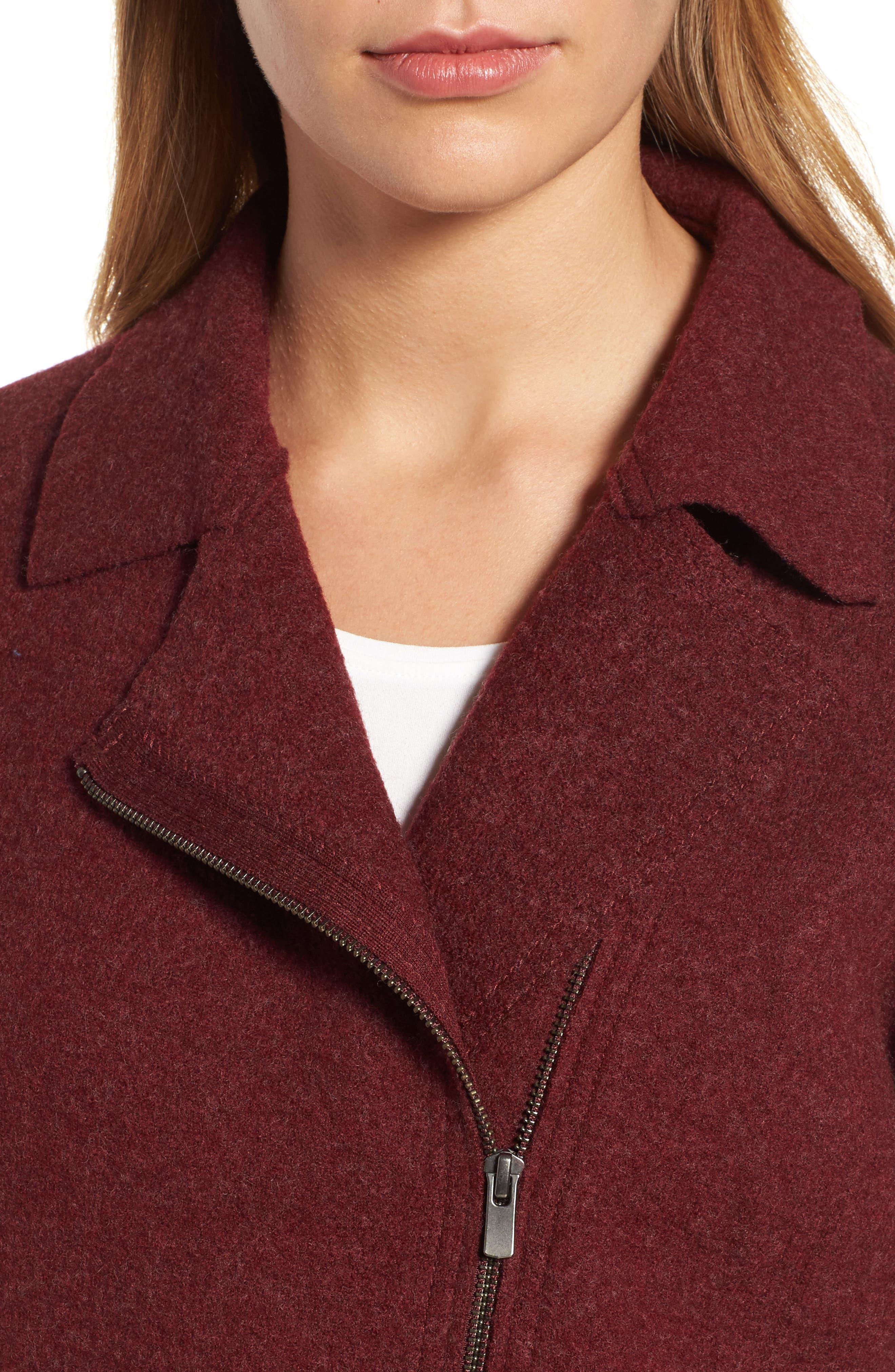 Boiled Wool Moto Jacket,                             Alternate thumbnail 16, color,