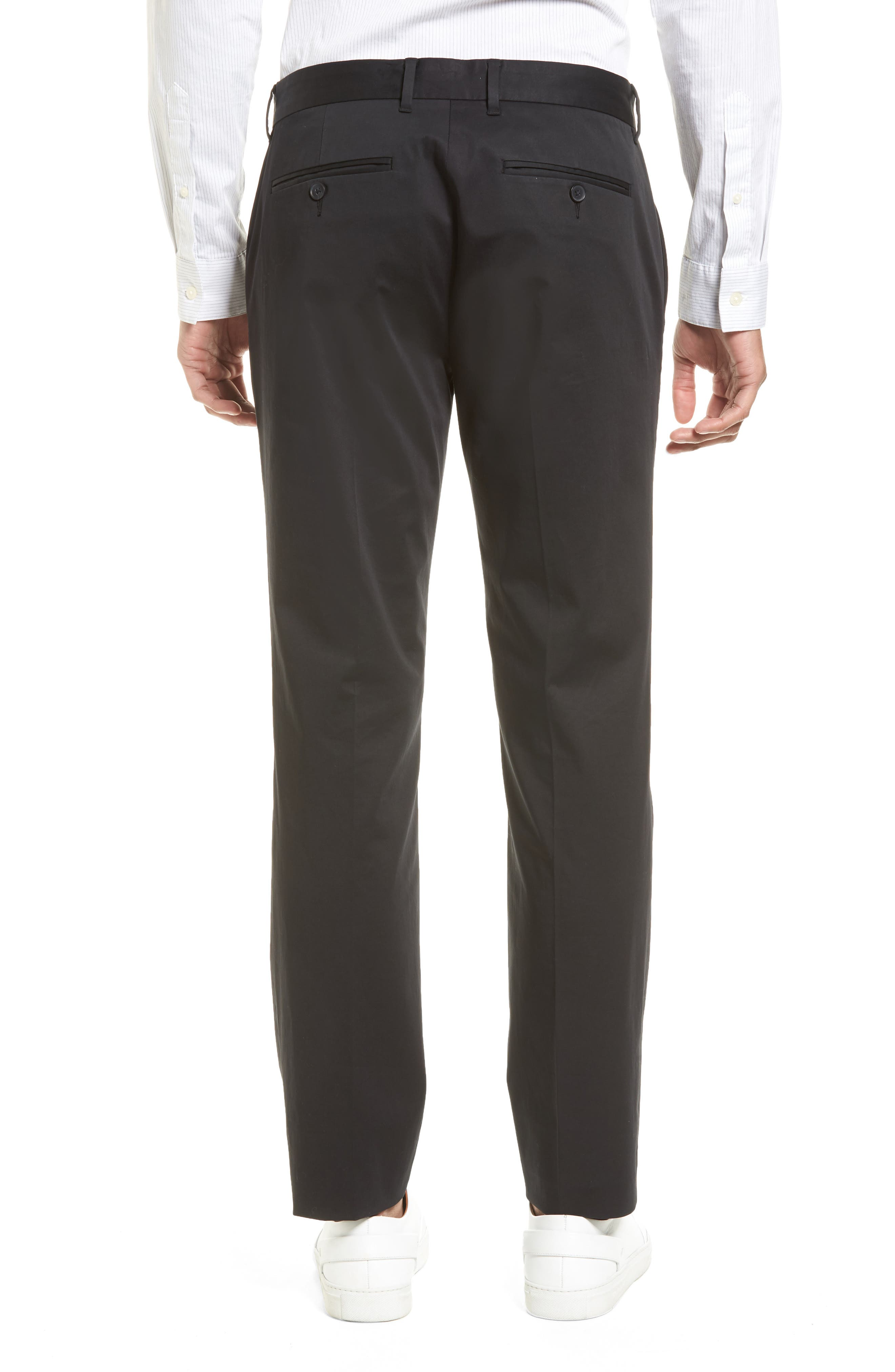 Officer Flat Front Chino Pants,                             Alternate thumbnail 2, color,                             001