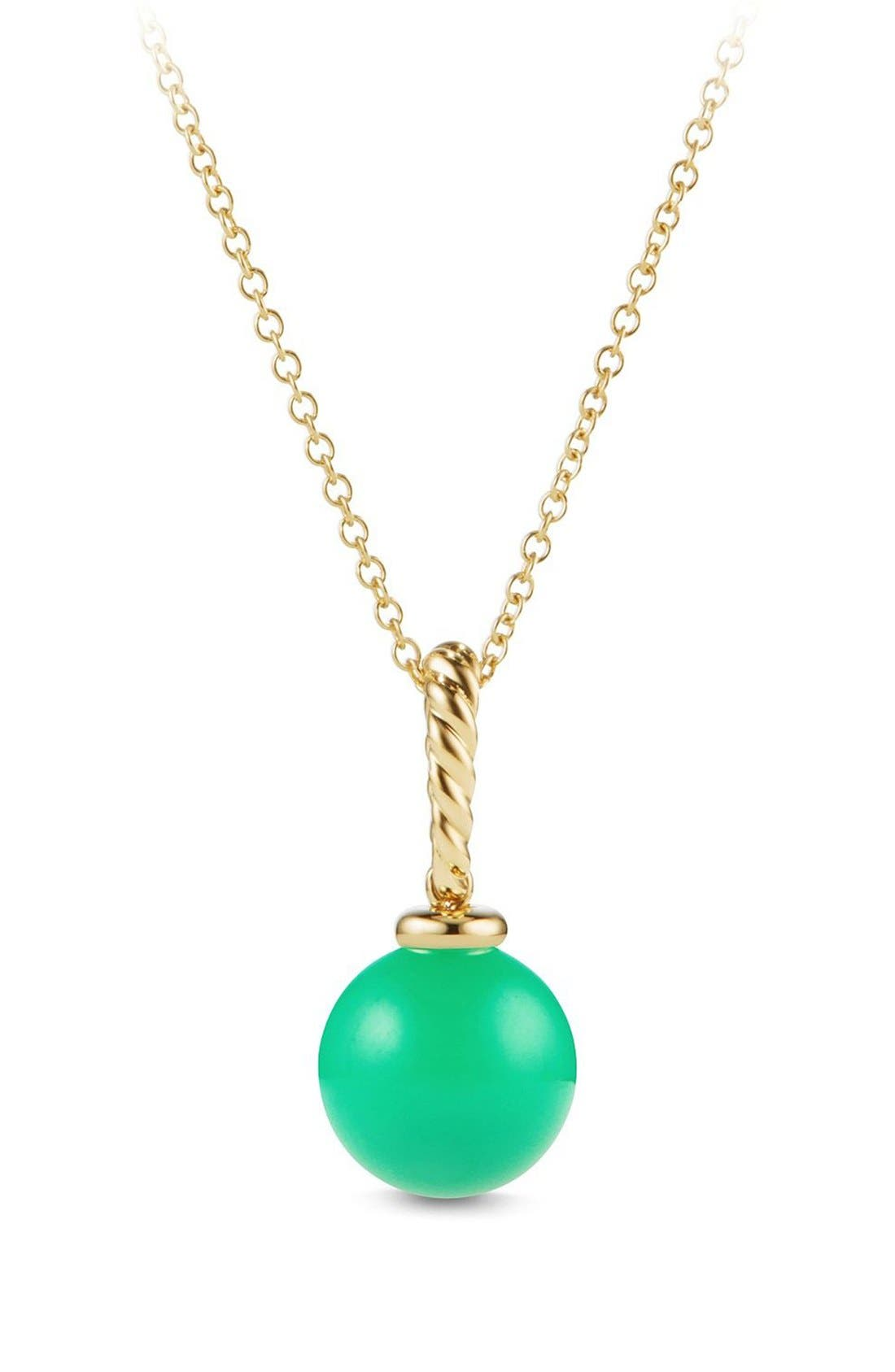 'Solari' Pendant Necklace in 18K Gold,                             Main thumbnail 1, color,                             CHRYSOPRASE