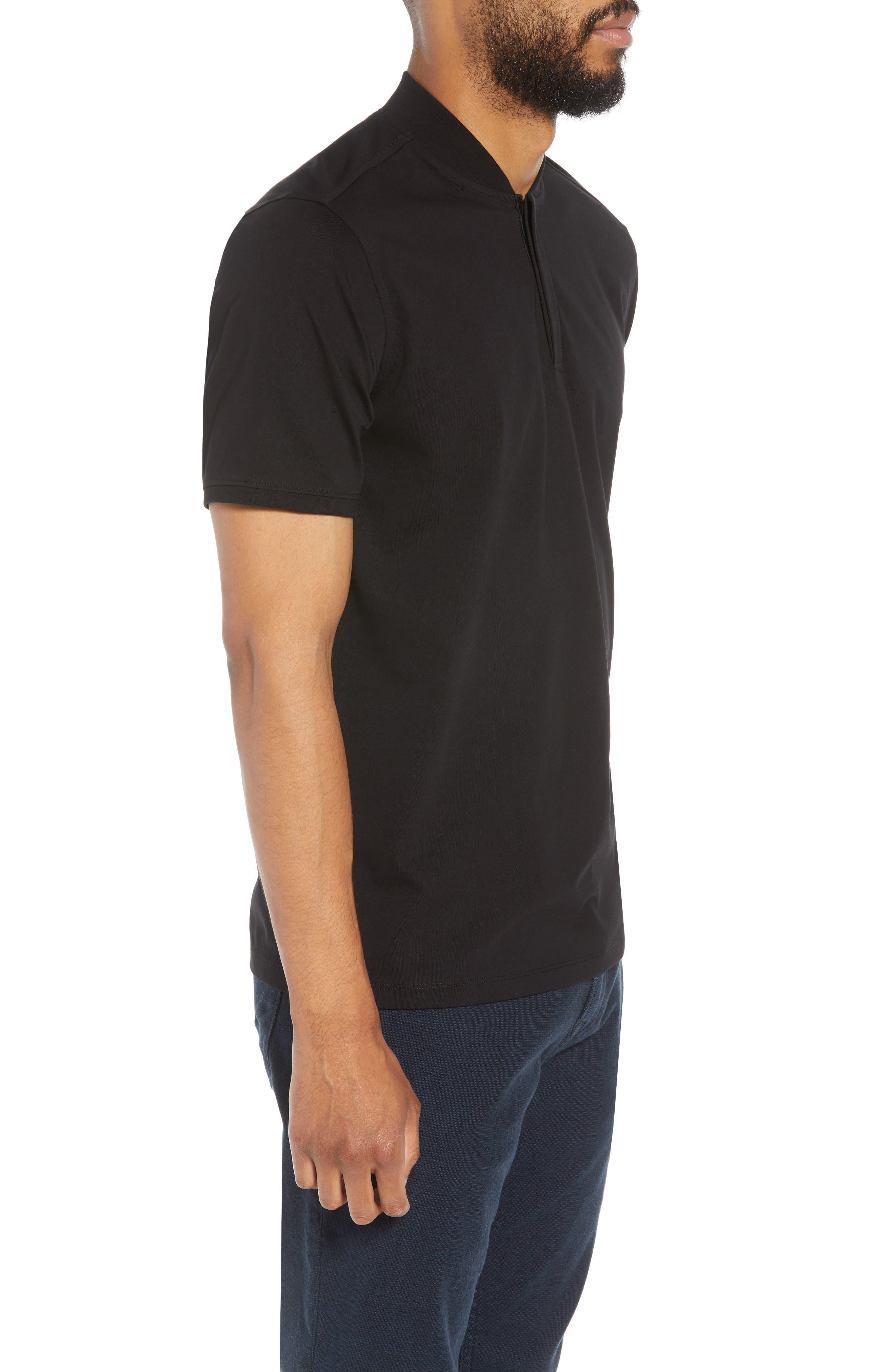 Trim Fit Henley T-Shirt,                             Alternate thumbnail 3, color,                             001