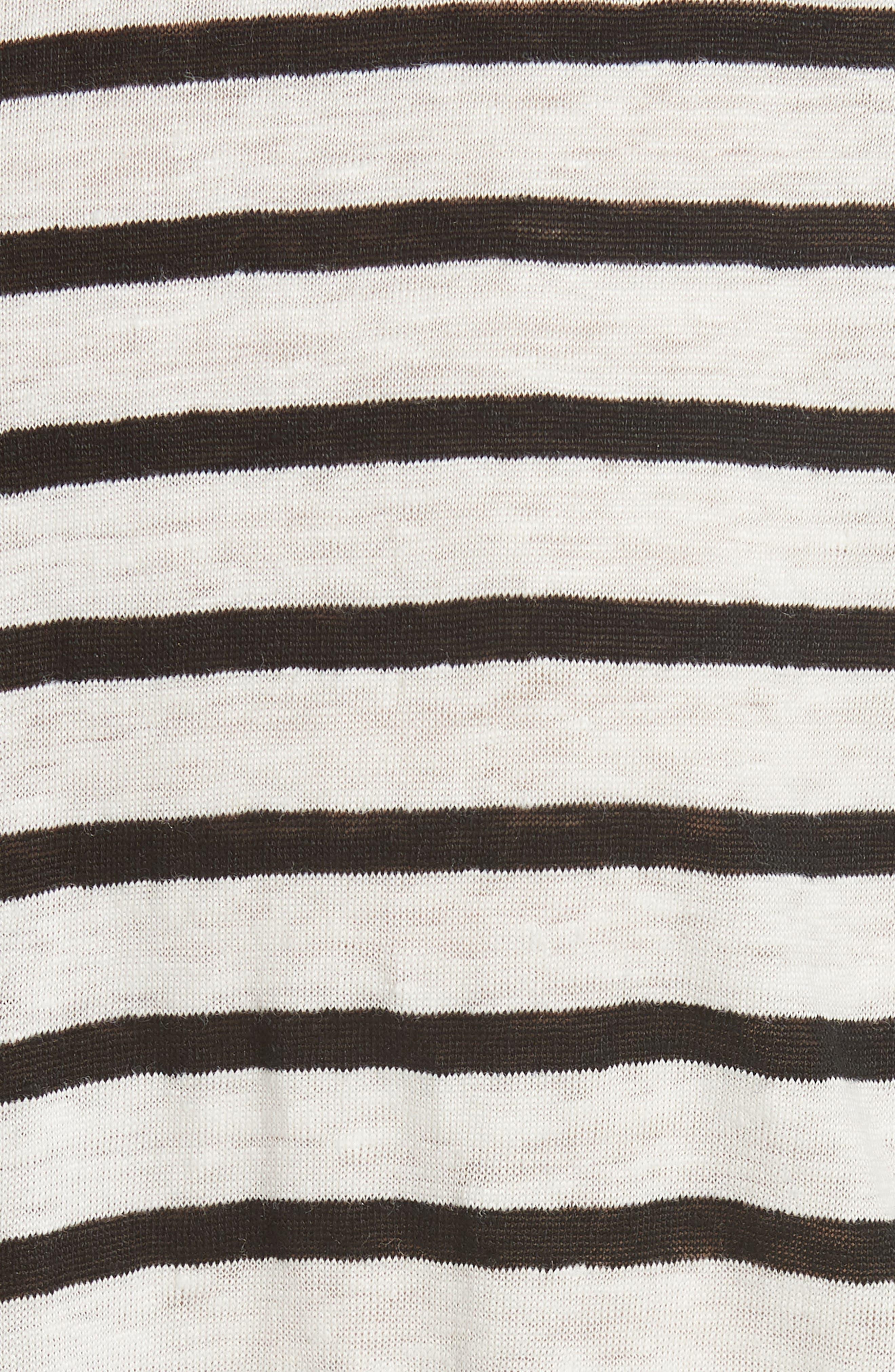 Dolman Sleeve Linen Tee,                             Alternate thumbnail 5, color,                             009
