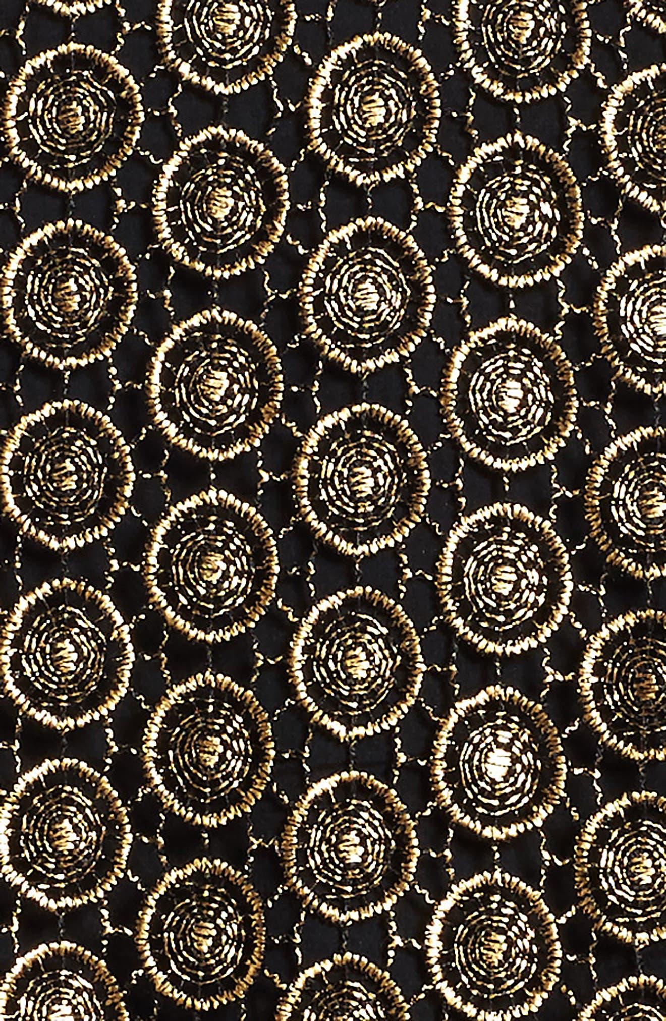 Metallic Lace Dress,                             Alternate thumbnail 3, color,                             010