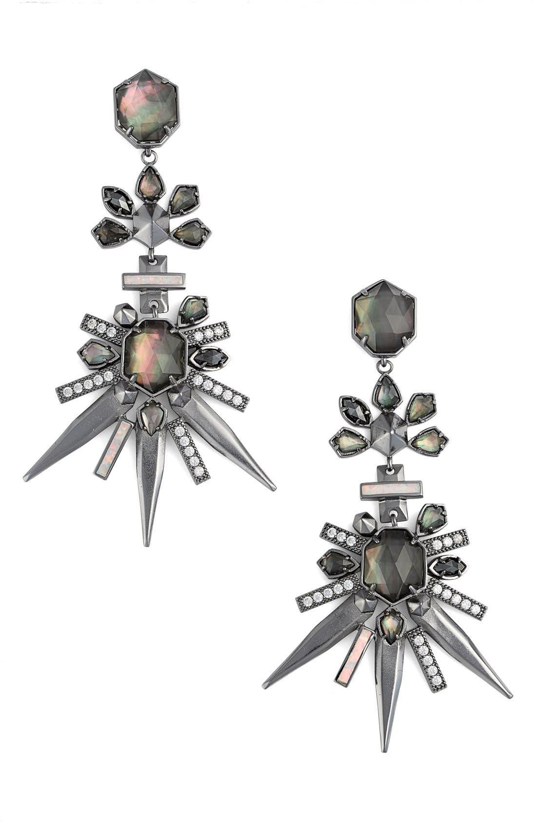 'Isadora' Jewel Drop Earrings,                             Main thumbnail 1, color,                             040