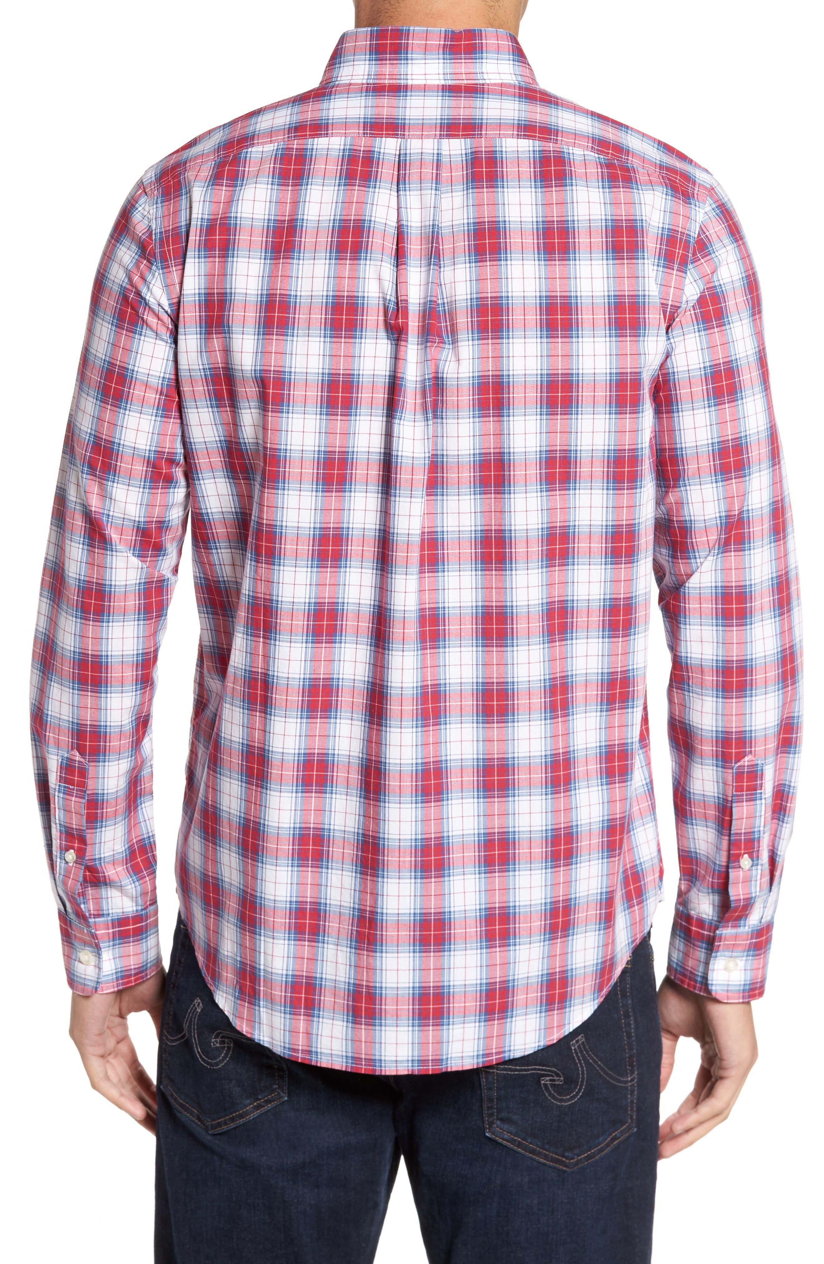 Murray Bucklin Point Slim Fit Plaid Sport Shirt,                             Alternate thumbnail 2, color,
