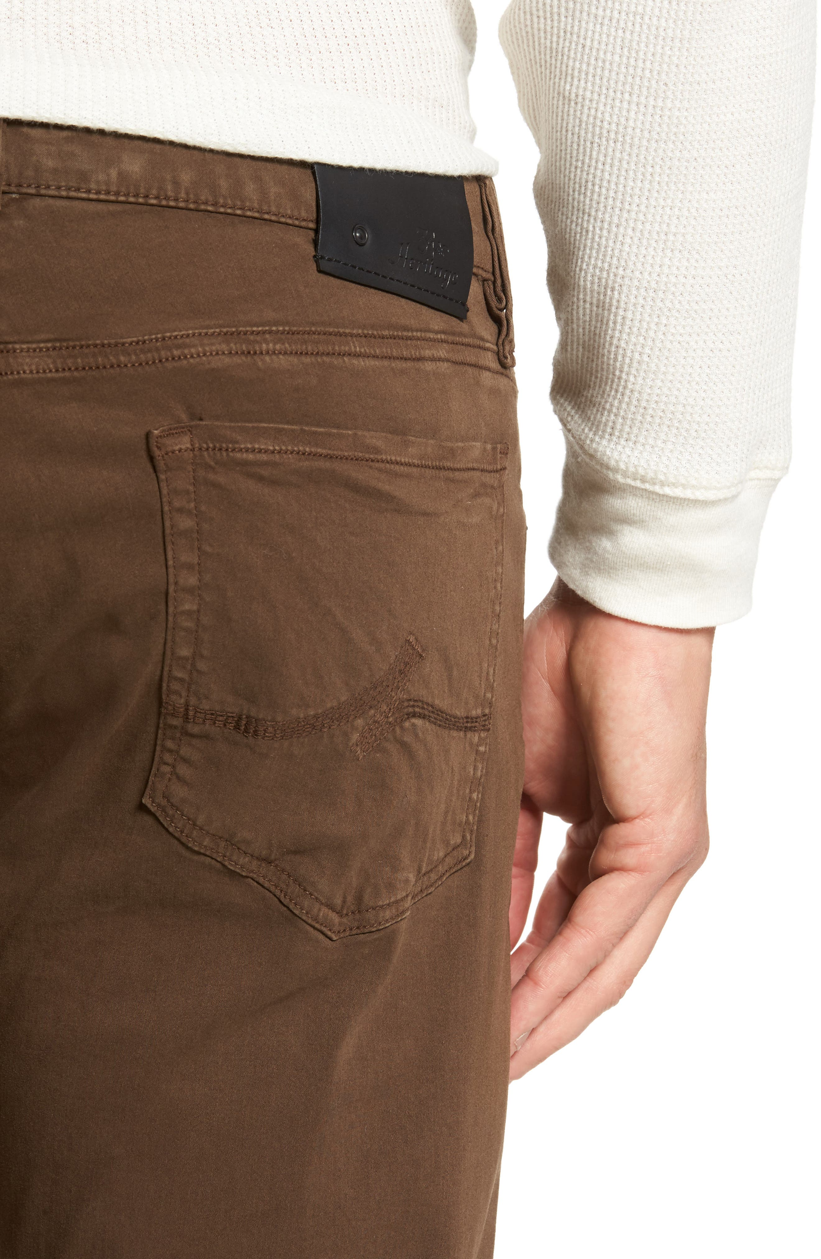 Courage Straight Leg Twill Pants,                             Alternate thumbnail 4, color,                             200
