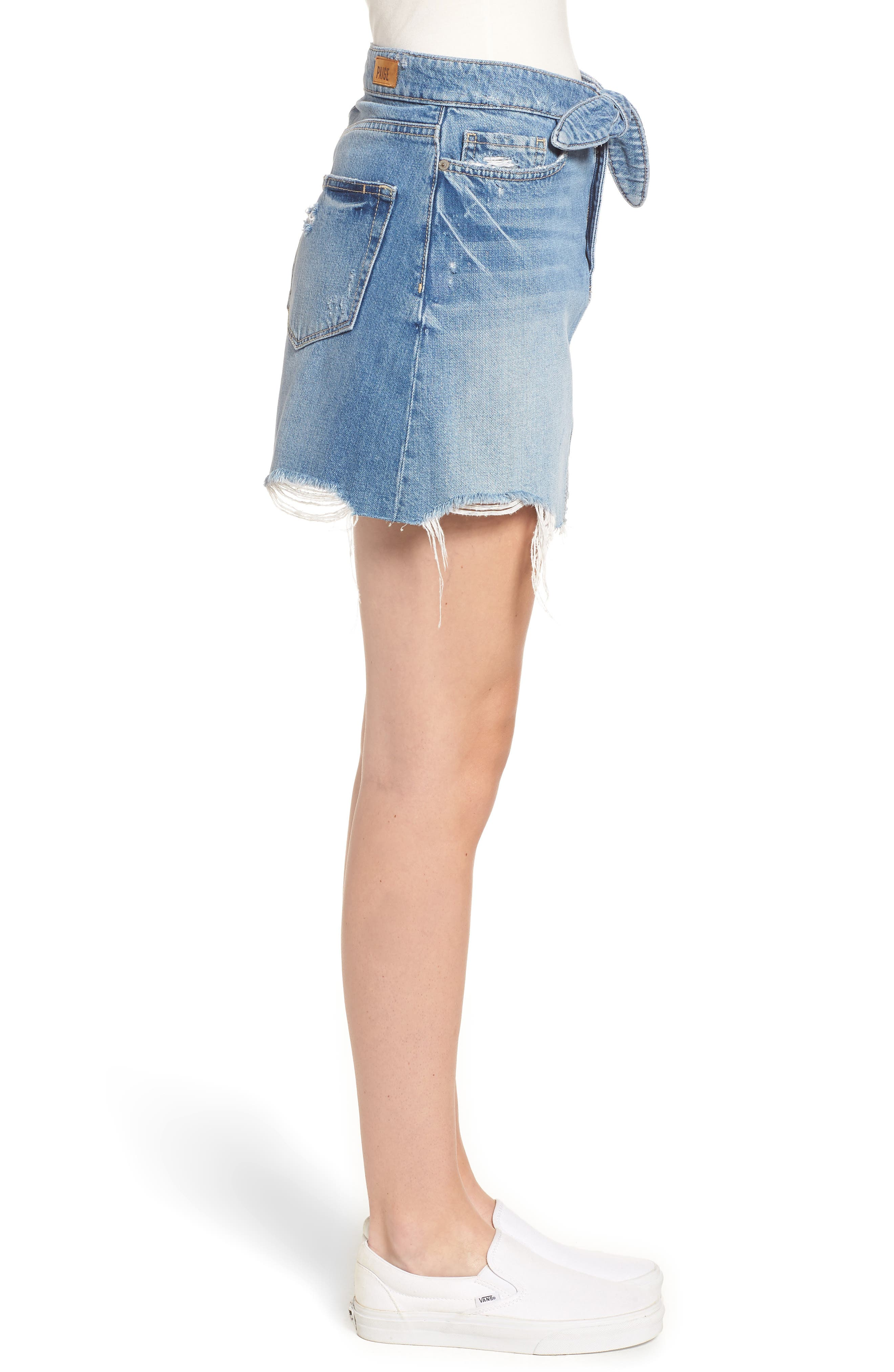 Alethea High Waist Denim Skirt,                             Alternate thumbnail 3, color,