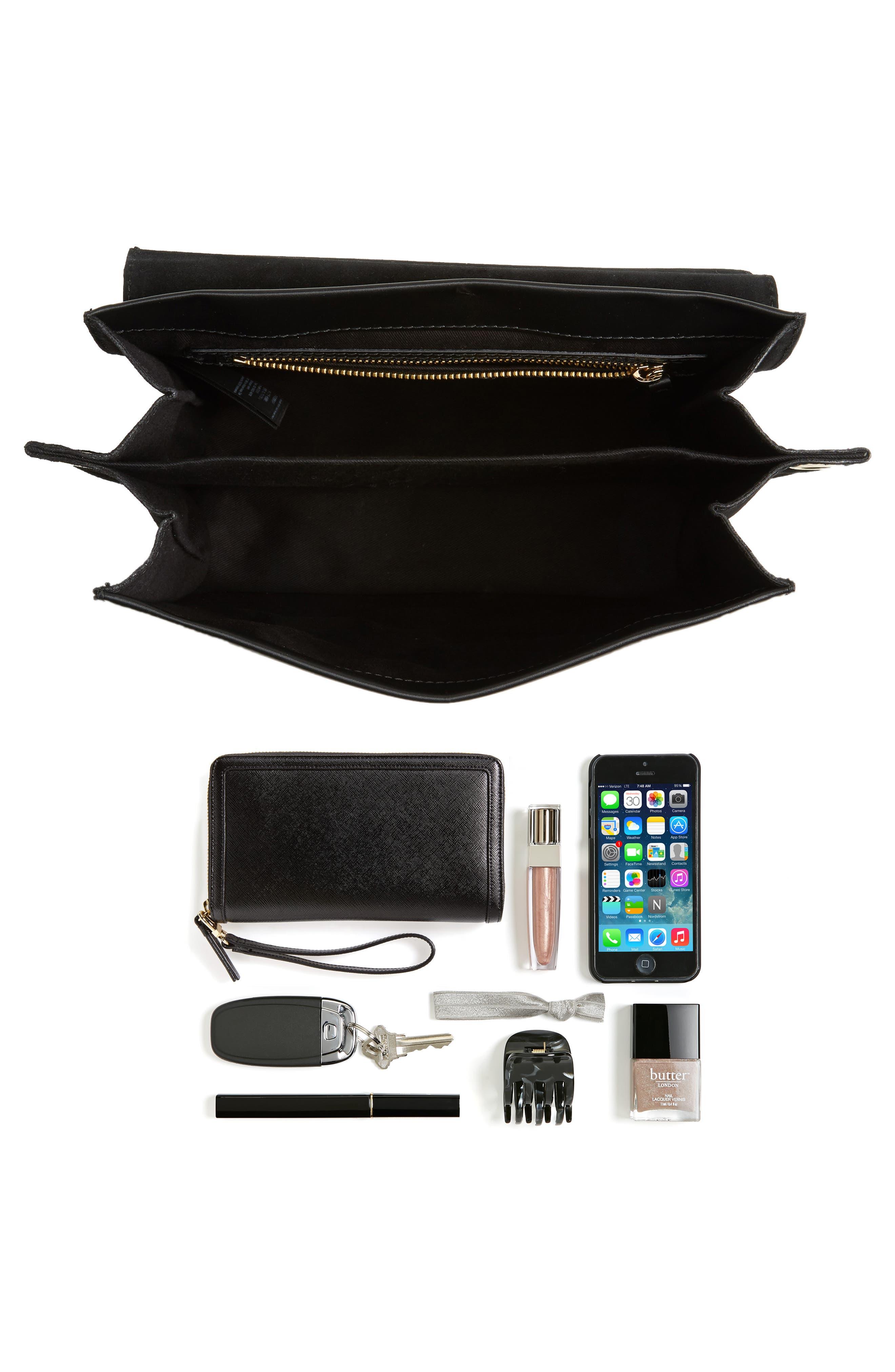 Premium Leather & Suede Soko Shoulder Bag,                             Alternate thumbnail 7, color,
