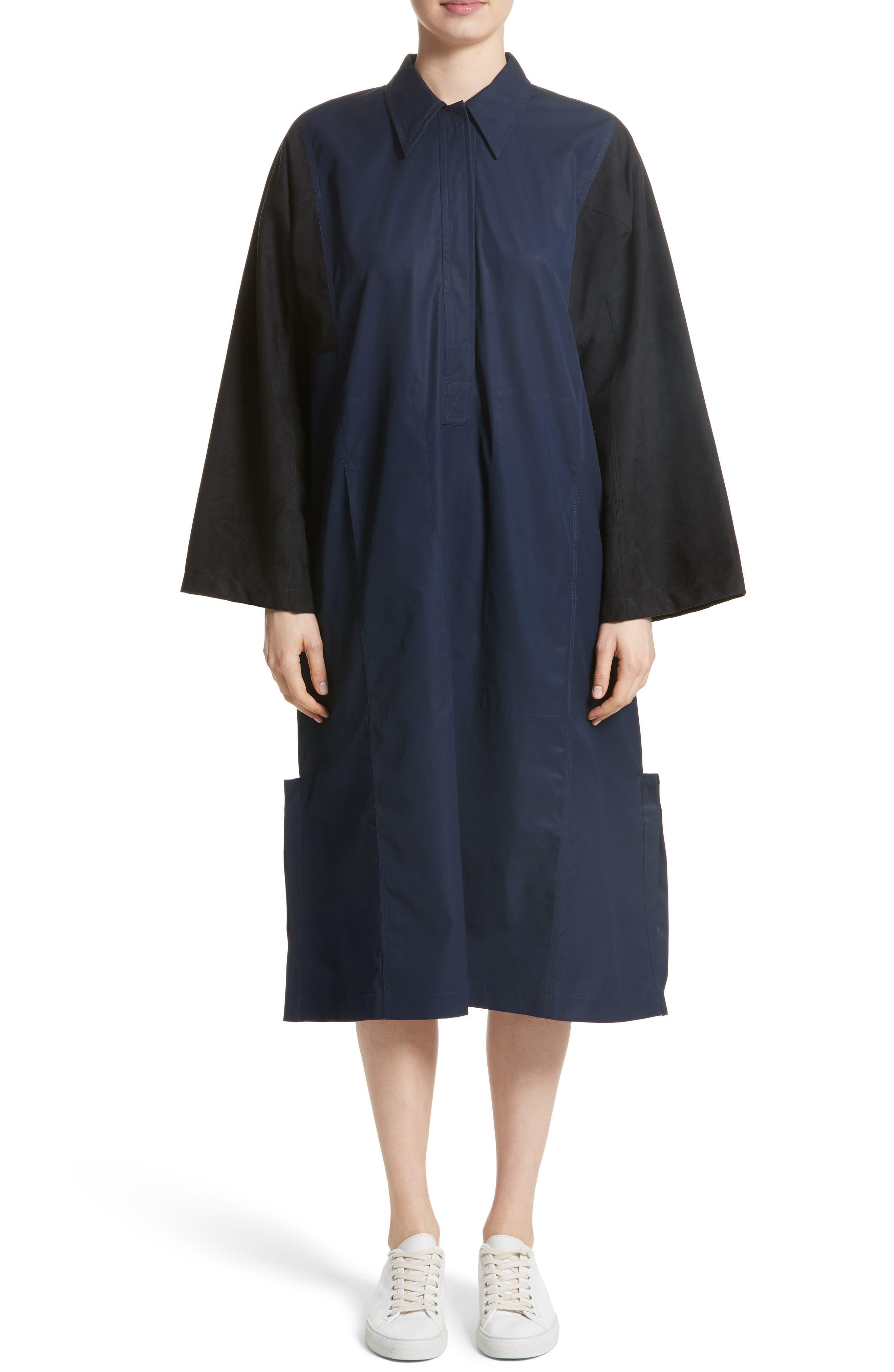 Mixed Media Shirt Dress,                             Main thumbnail 1, color,                             415