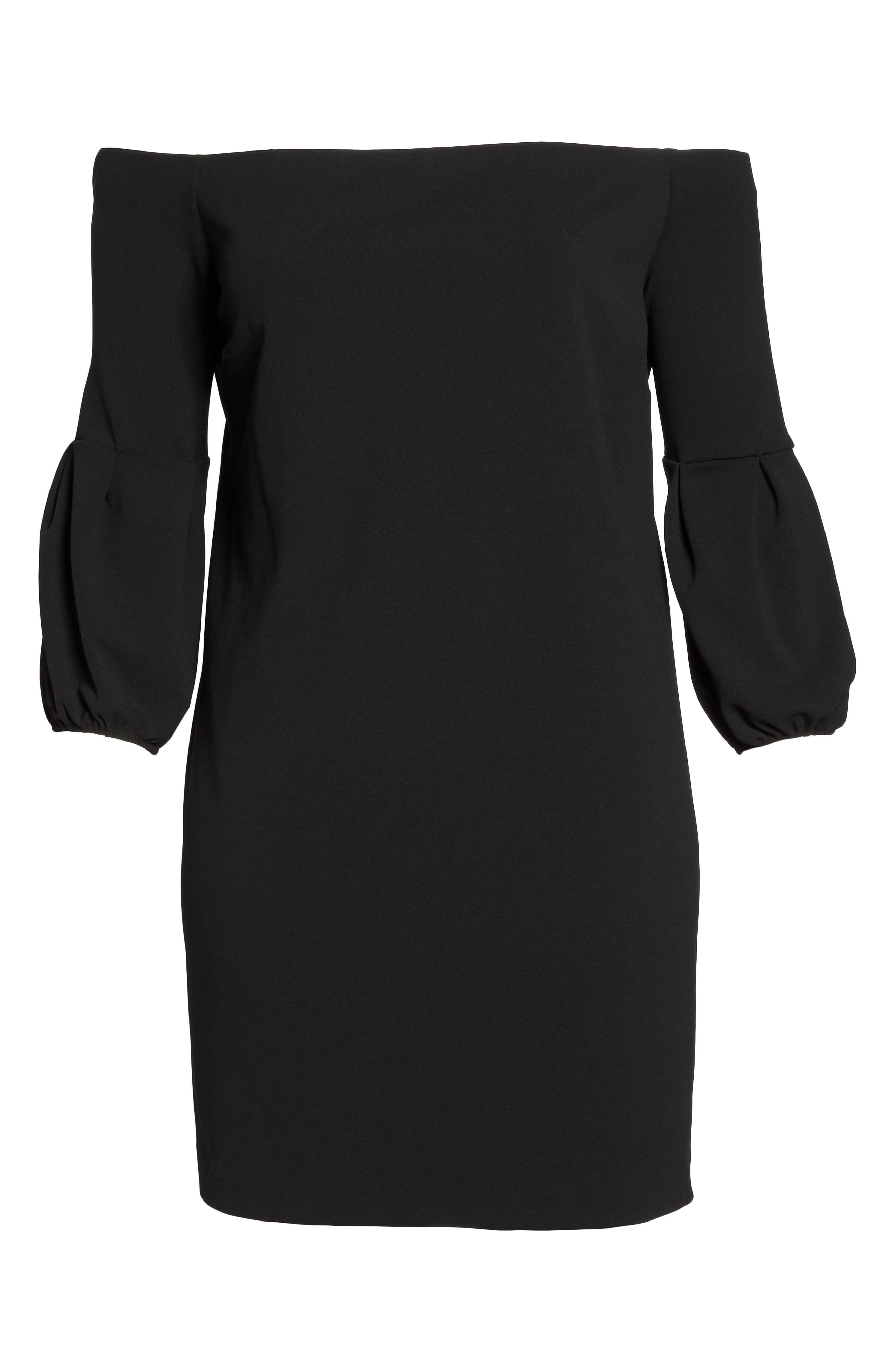 Off the Shoulder Shift Dress,                             Alternate thumbnail 6, color,                             019