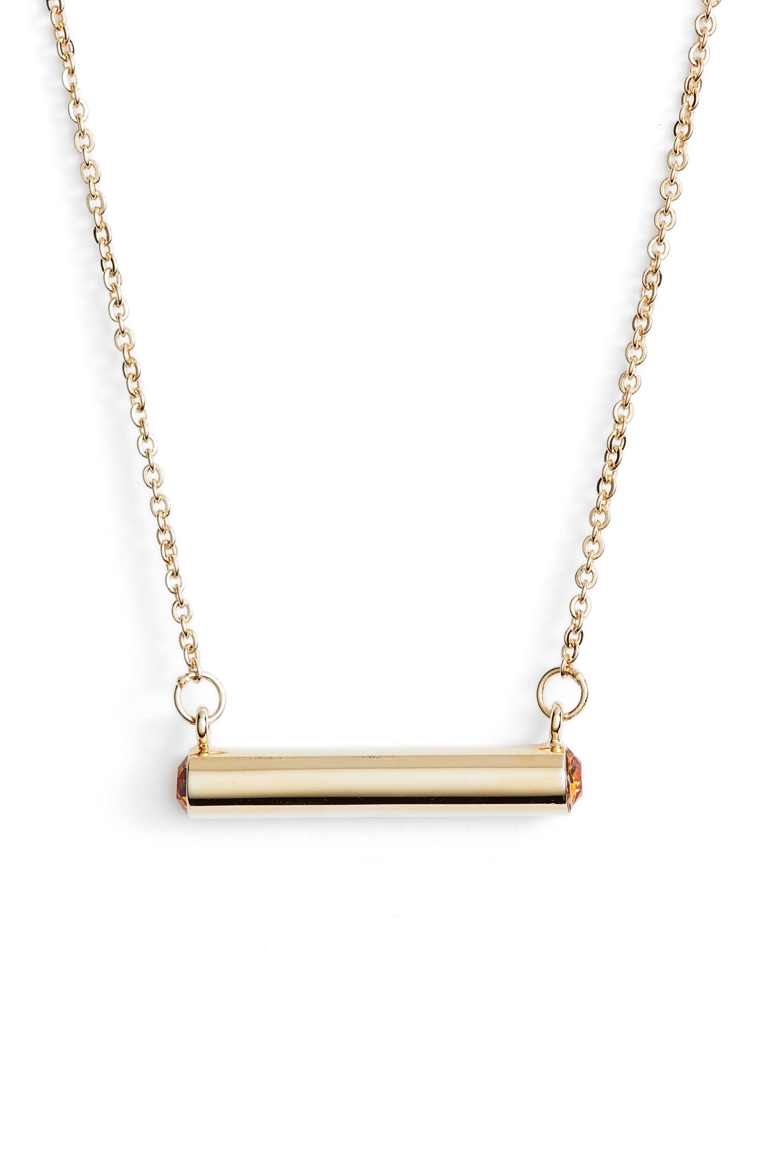 November Crystal Bar Pendant Necklace,                             Main thumbnail 2, color,