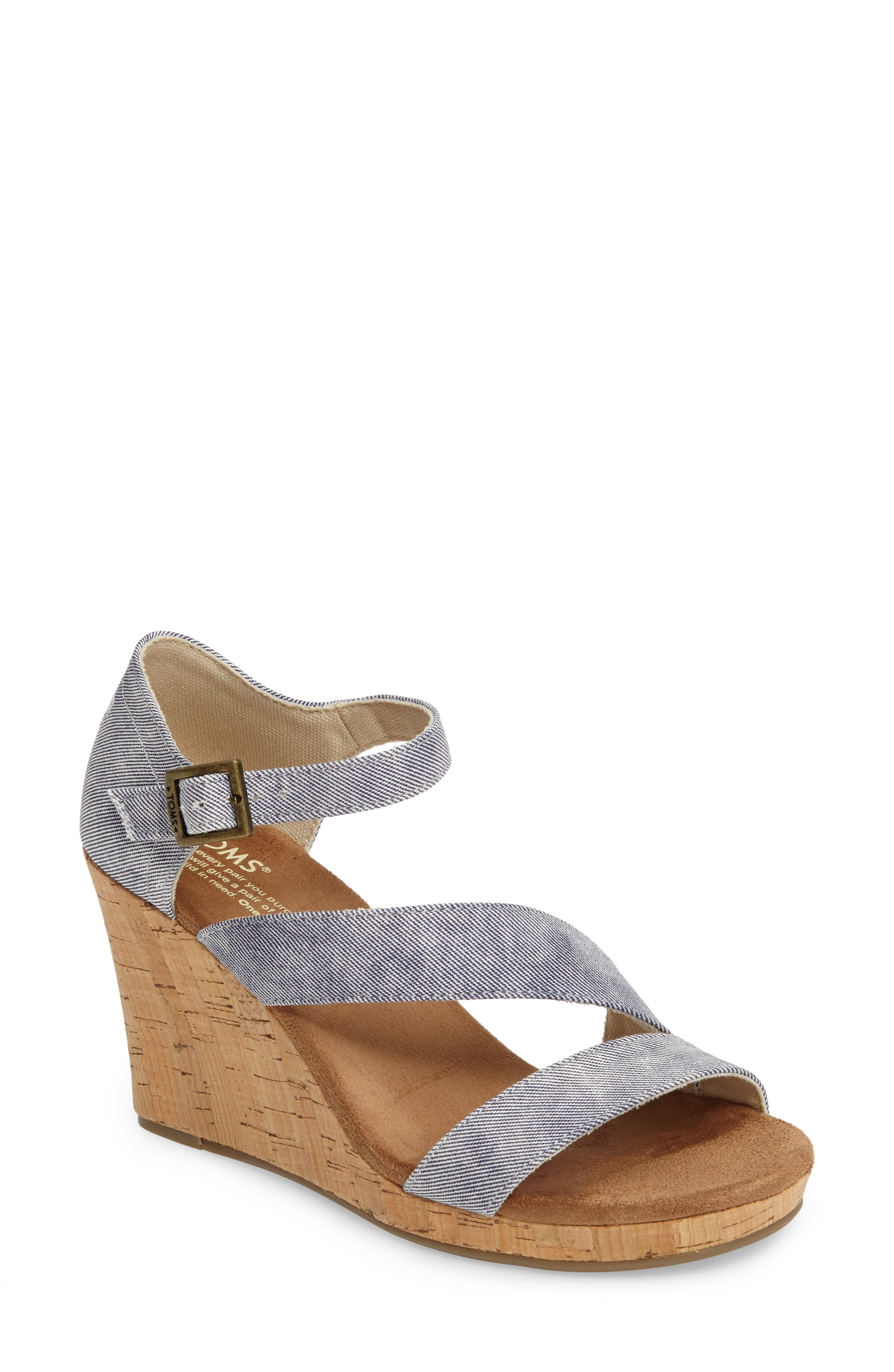 Clarissa Wedge Sandal,                         Main,                         color,